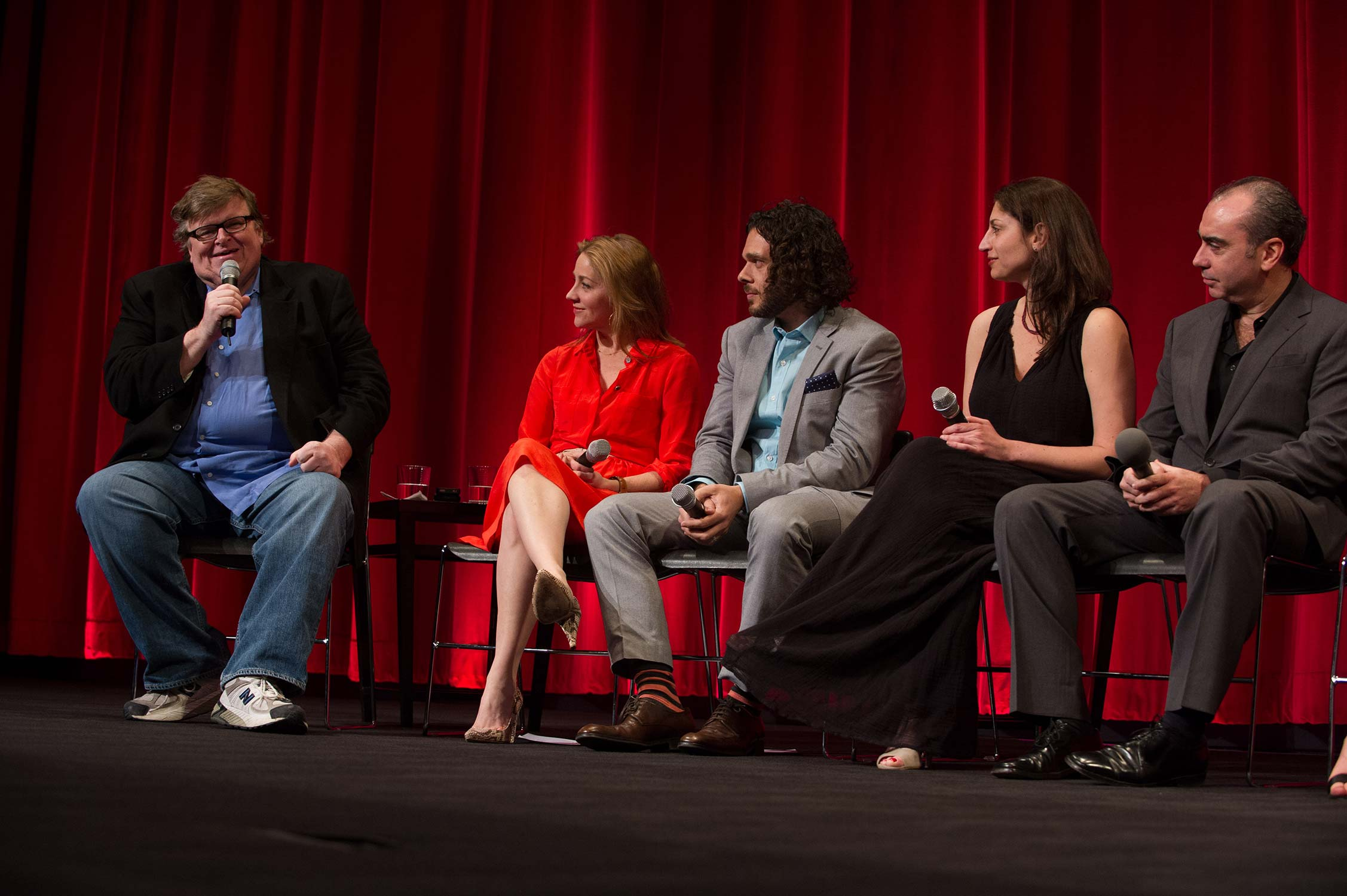 The filmmakers on stage.