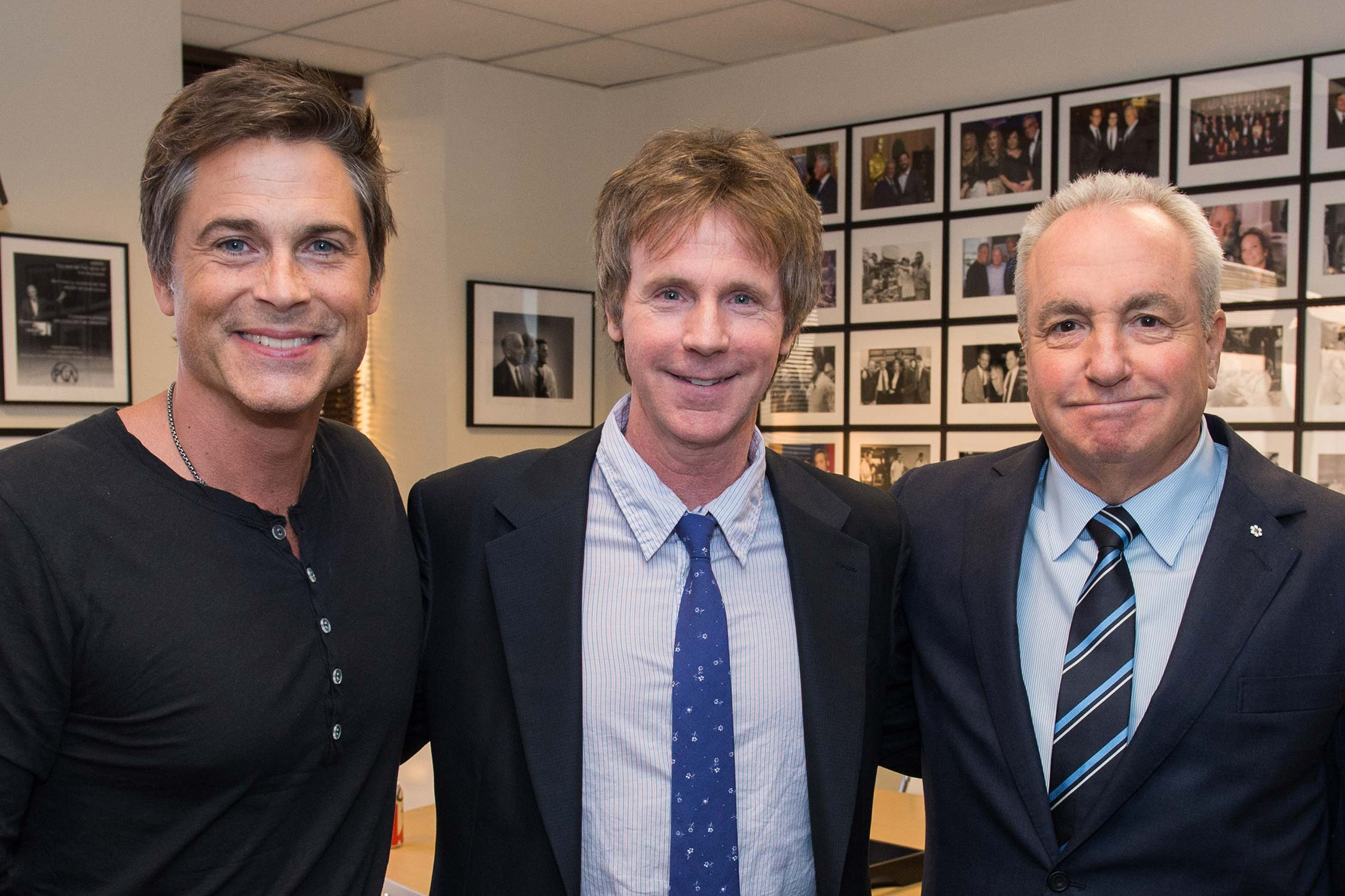 Rob Lowe and Dana Carvey before the event.