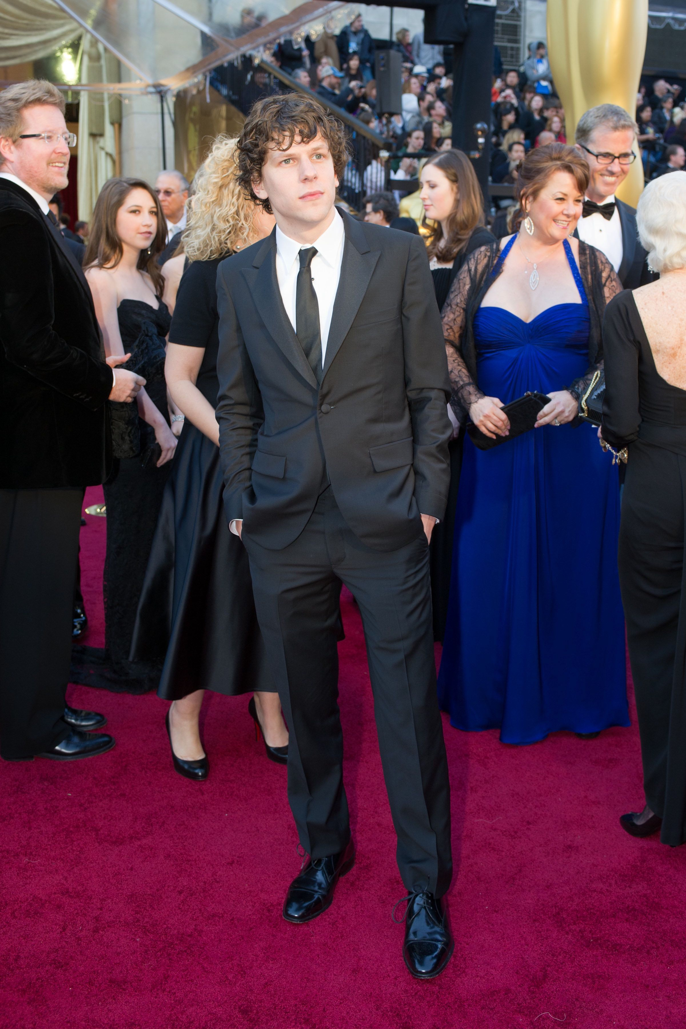 Jesse Eisenberg, Oscar®-nominee for Performance by an Actor in a Leading Role, arrives.