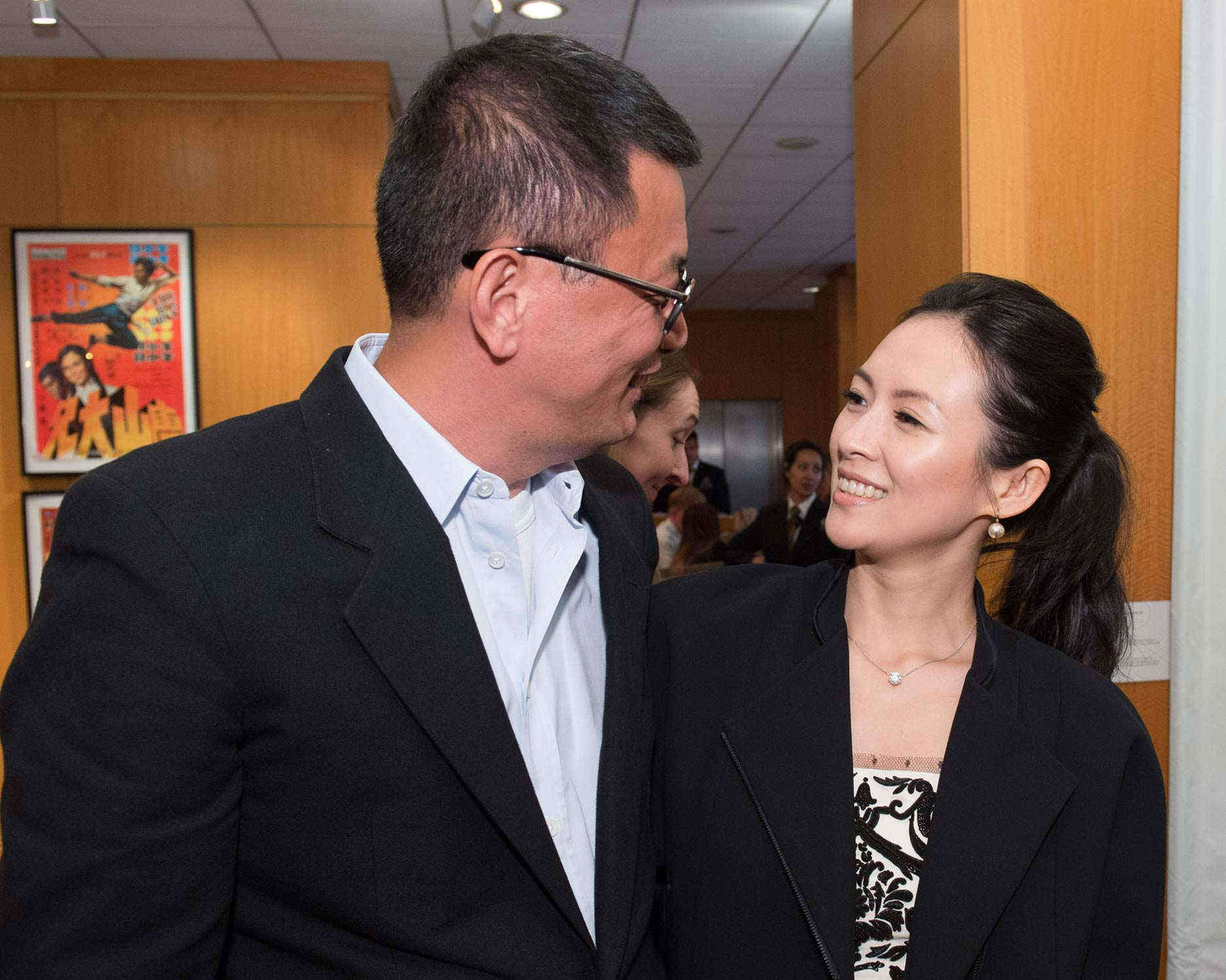 Writer-director Wong Kar Wai (left) and actress Ziyi Zhang
