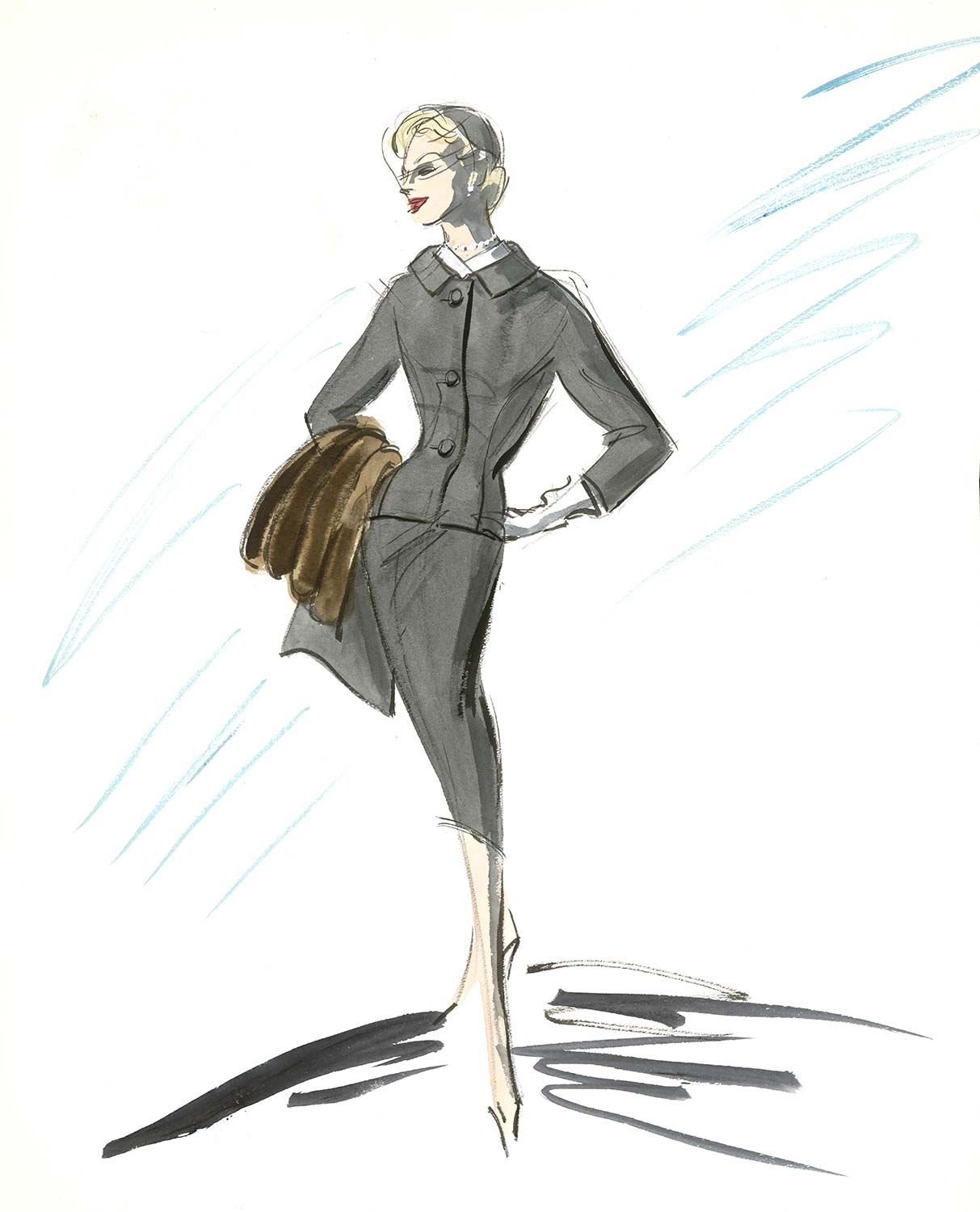 Costume design sketch.
