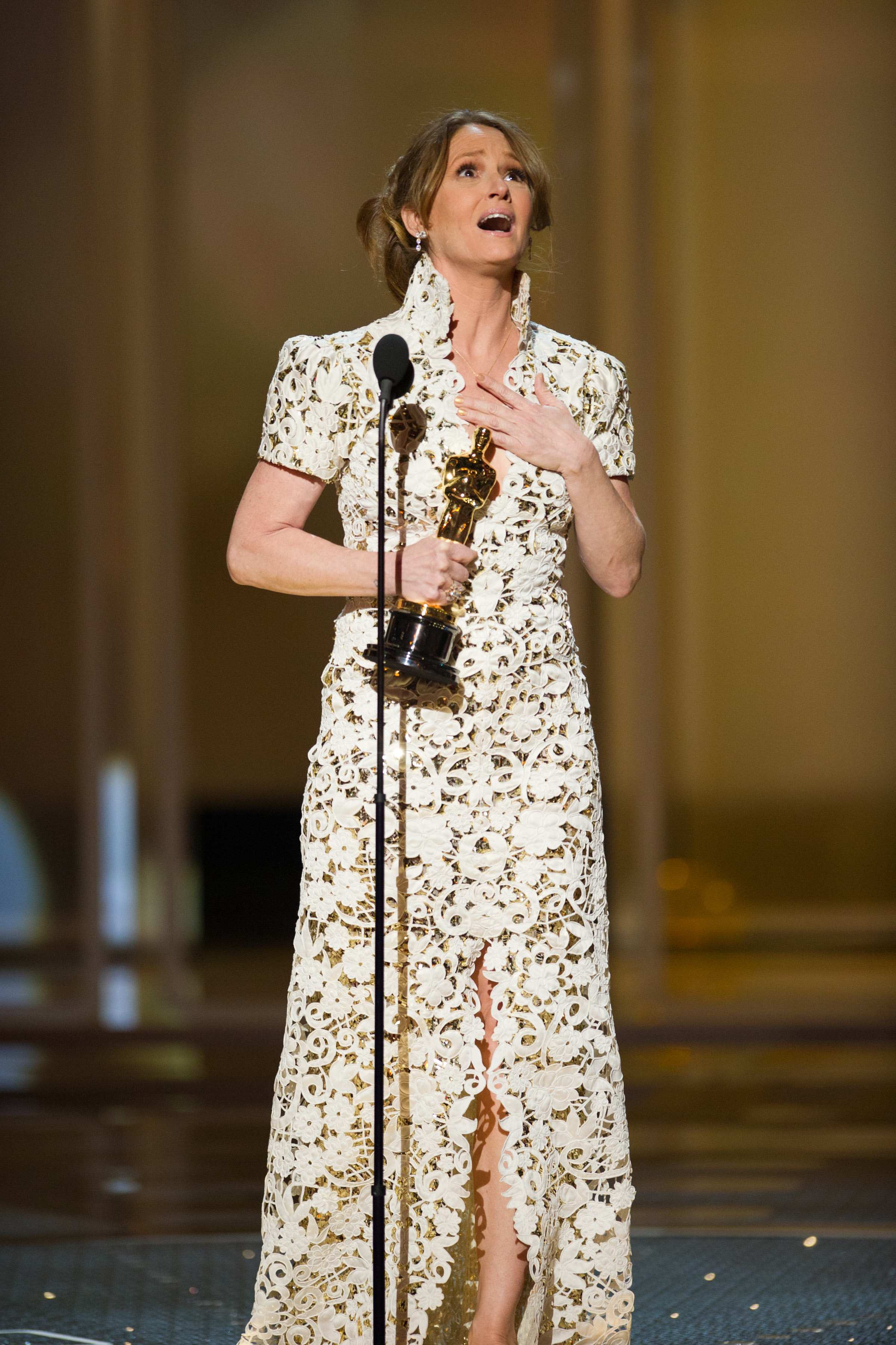 "Melissa Leo accepts the Oscar® for Performance by an Actress in a Supporting Role for her role in ""The Fighter."""