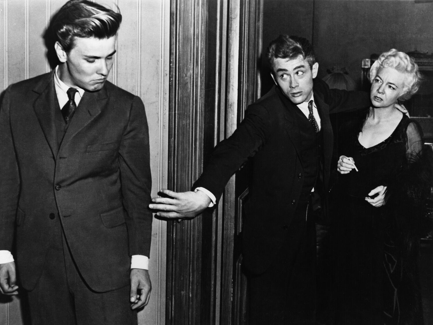 Richard Davalos, James Dean and Jo Van Fleet (who won an Oscar for her role) in East of Eden. This image and others of Davalos were used for several albums by The Smiths.