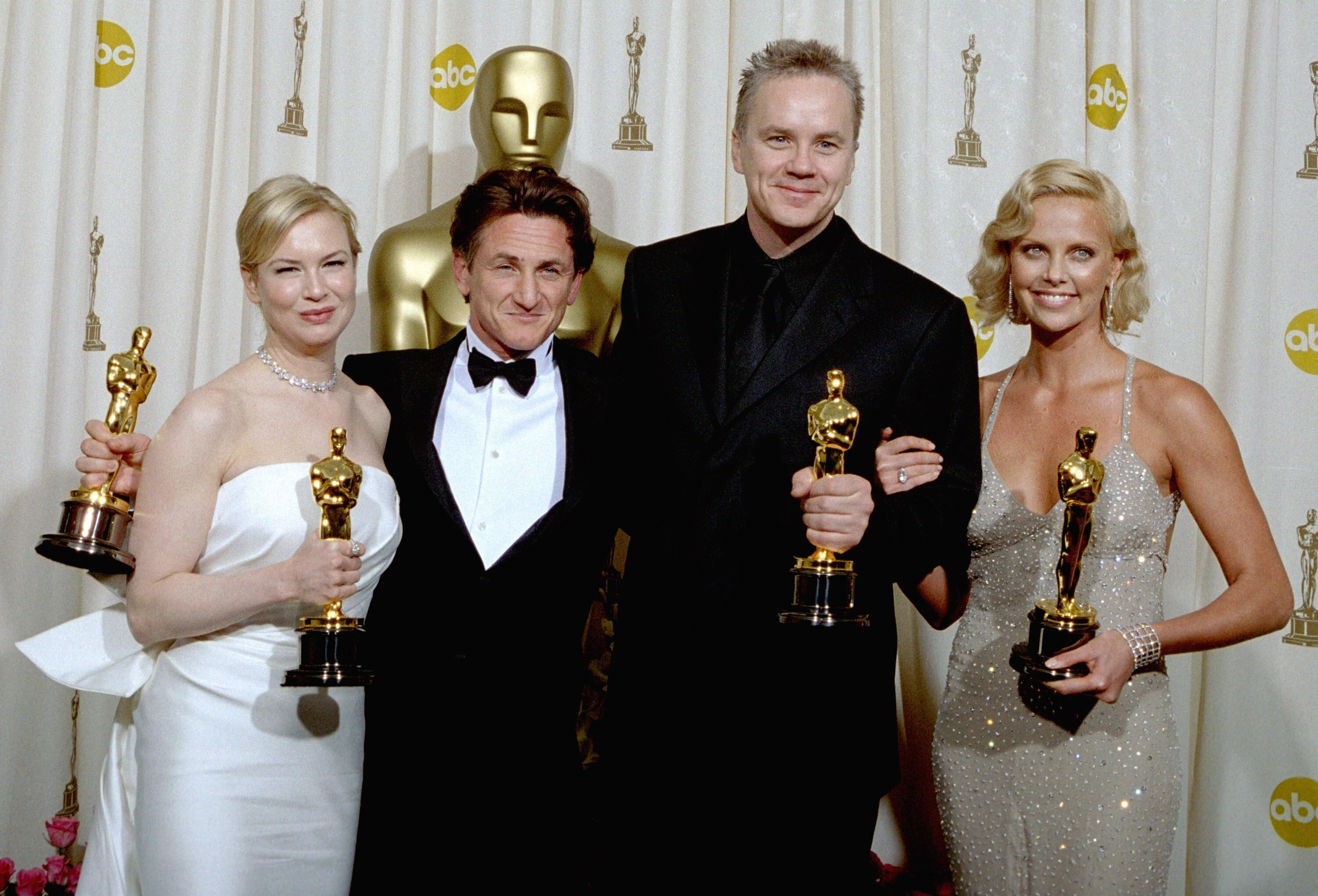 Renee Zellweger, Sean Penn, Tim Robbins, and Charlize Theron.