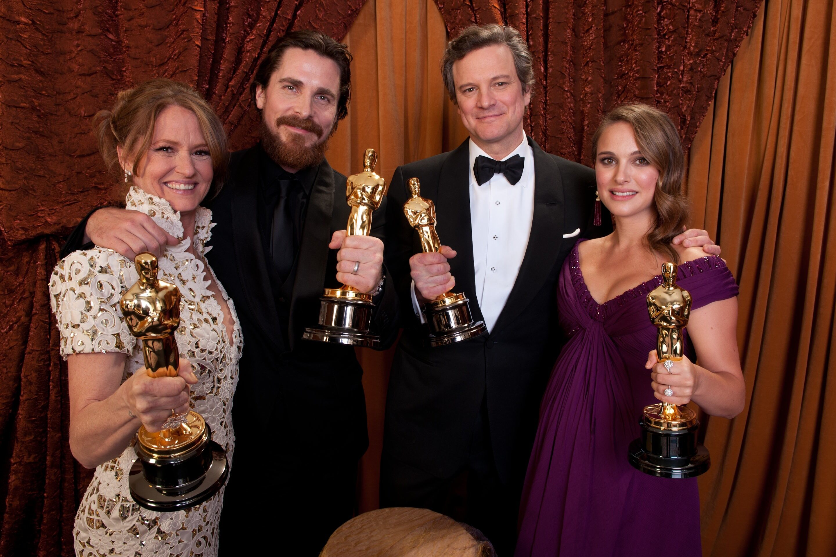 Oscar® winners Melissa Leo, Christian Bale, Colin Firth, and Natalie Portman.