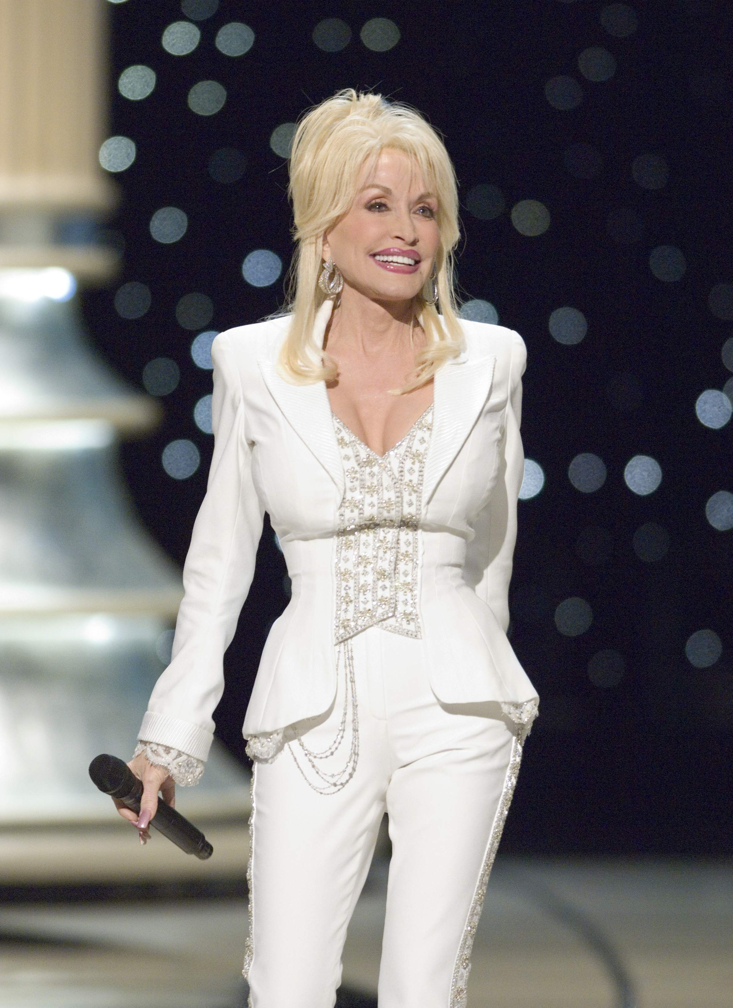 "Dolly Parton performs ""Travelin' Thru,"" from the film ""Transamerica"" nominated for the Academy Award for Best Original Song."