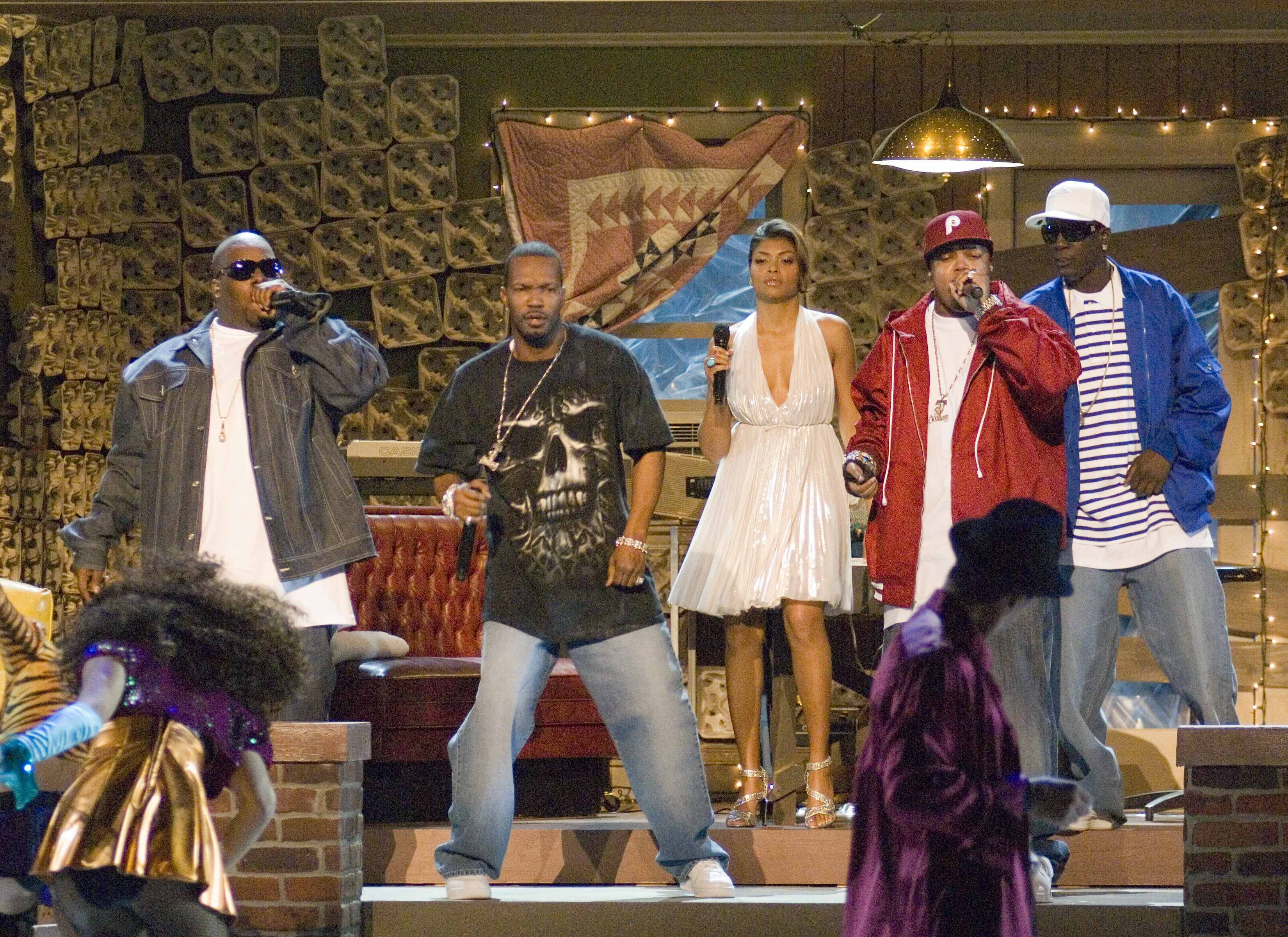 "Taraji Henson and Three 6 Mafia perform the Best Original Song ""It's Hard Out Here for a Pimp,"" from the movie ""Hustle & Flow."""