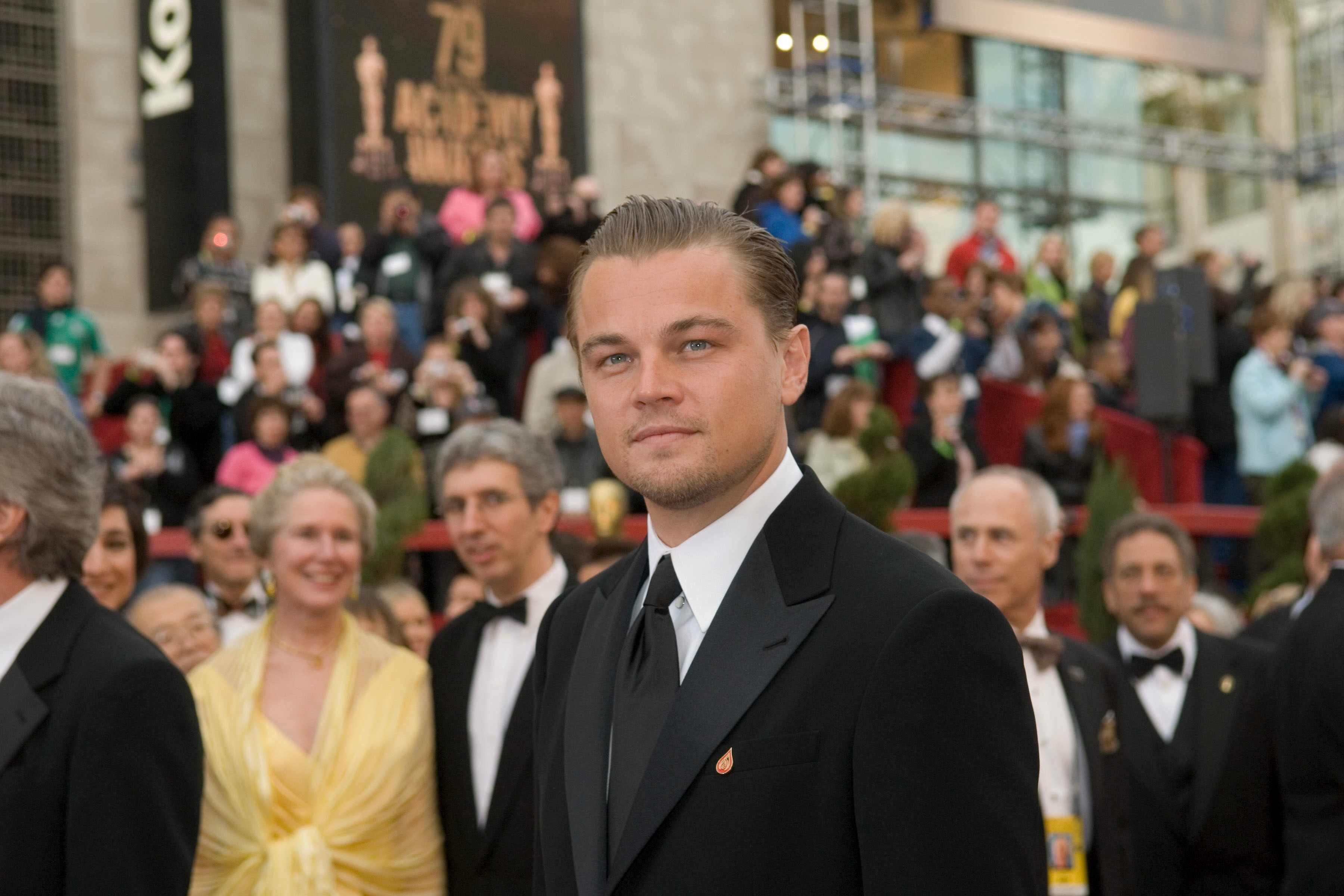 "Leonardo DiCaprio, Academy Award nominee for Best Actor for his work in ""The Departed,"" arrives."