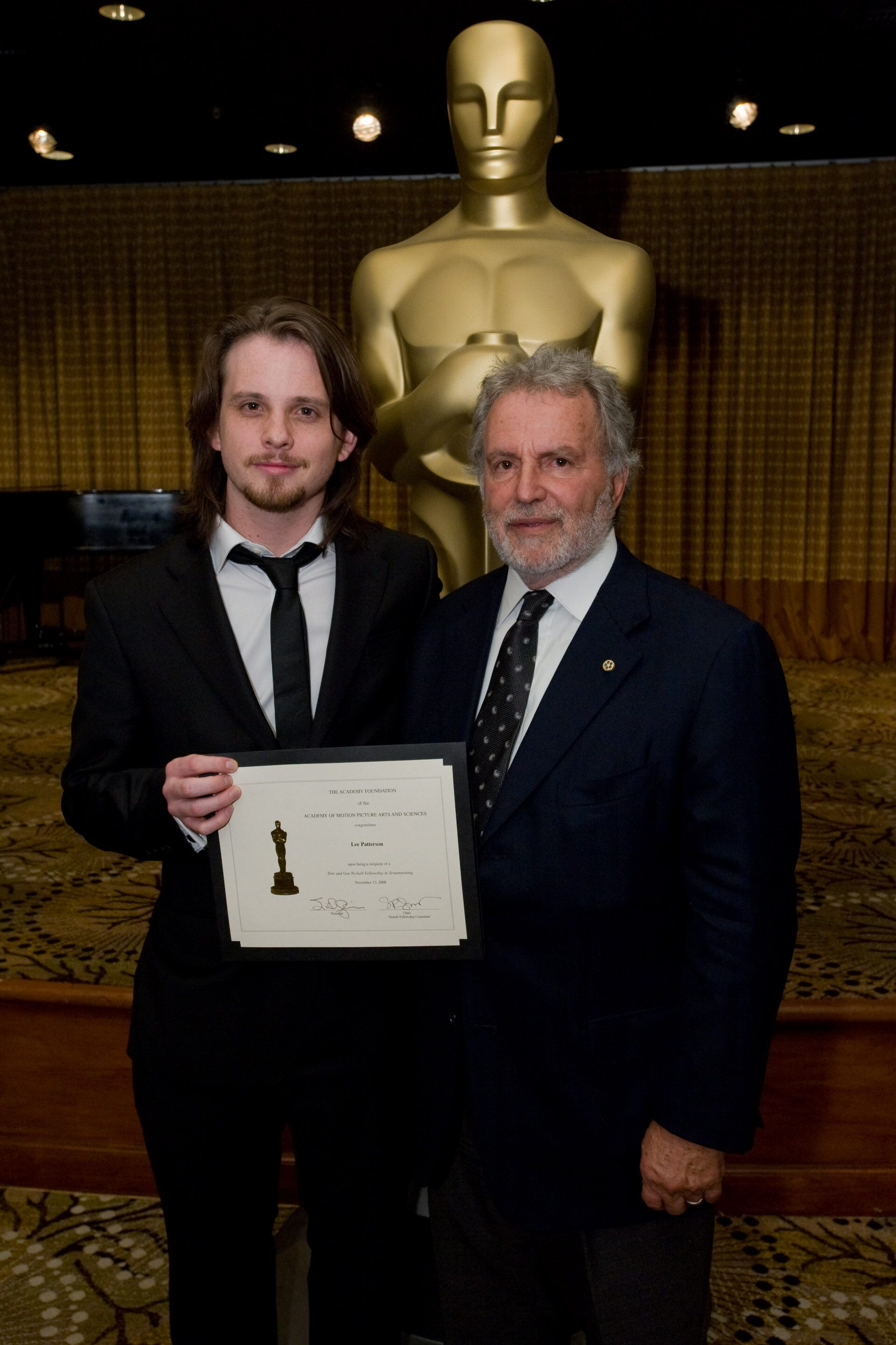 """Academy President Sid Ganis (right) and Lee Patterson, writer of """"Snatched."""""""