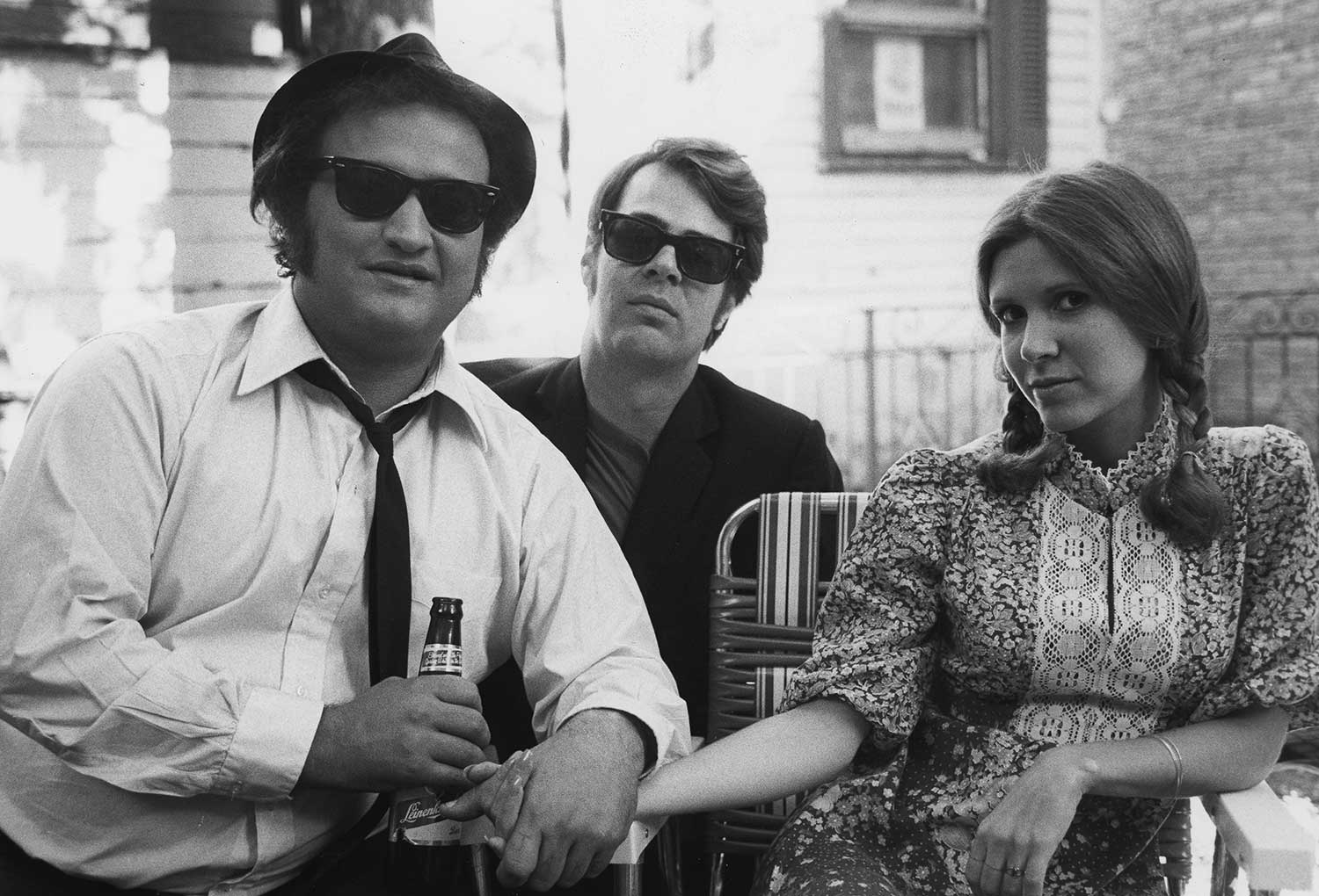Also seen in THE EMPIRE STRIKES BACK the same year, Carrie Fisher (Dan Aykroyd's girlfriend at the time) appeared in THE BLUES BROTHERS as a gun-toting woman with a mysterious grudge.