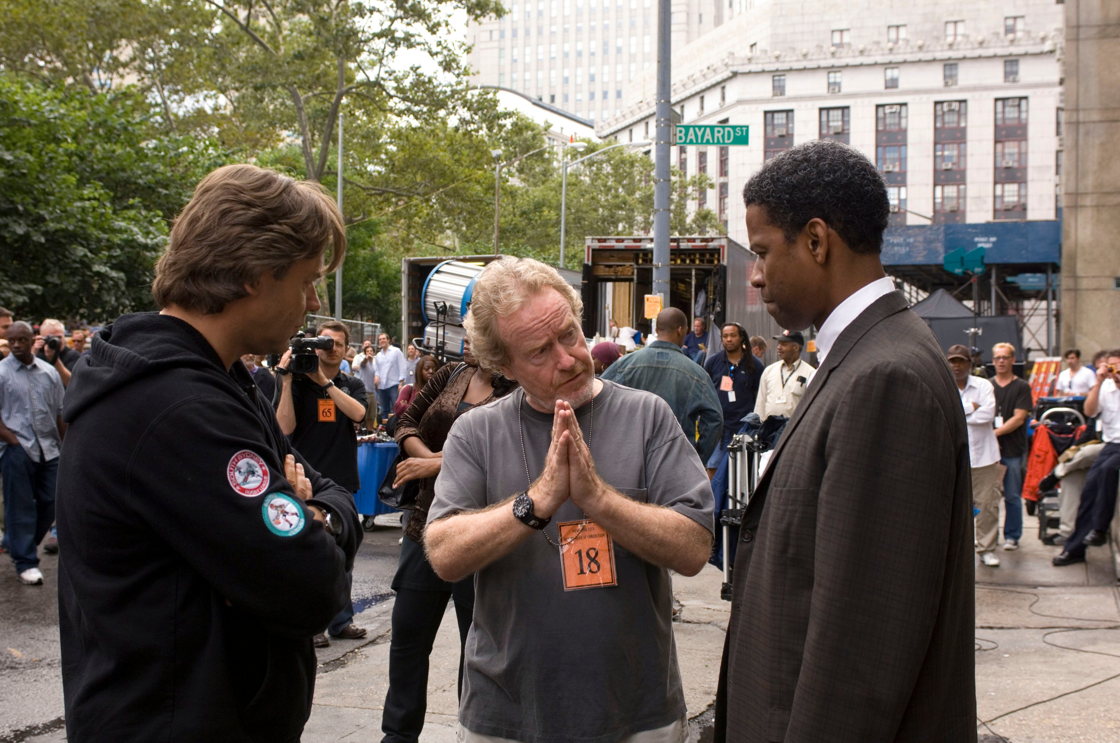 Russell Crowe, Ridley Scott and Denzel Washington