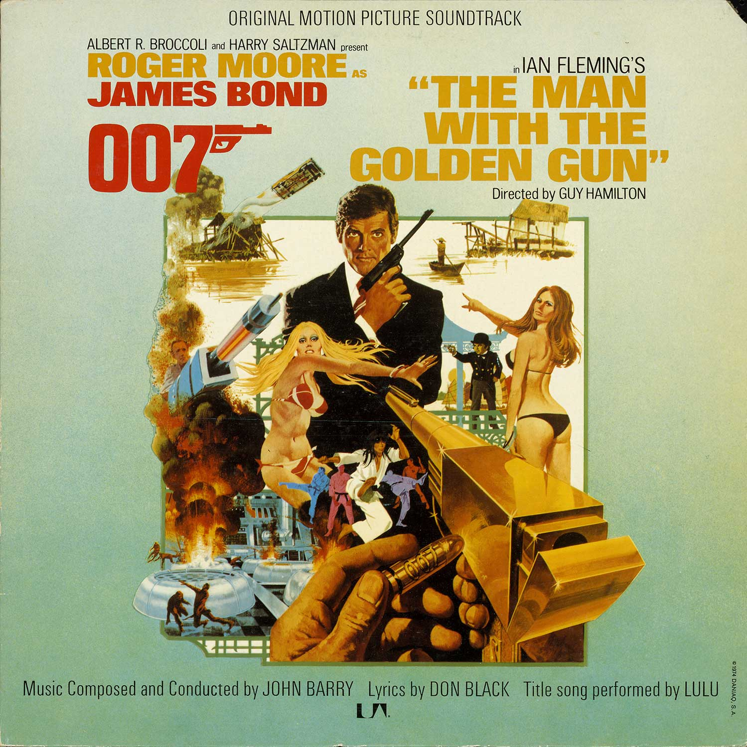 Record album cover, THE MAN WITH THE GOLDEN GUN, 1974.