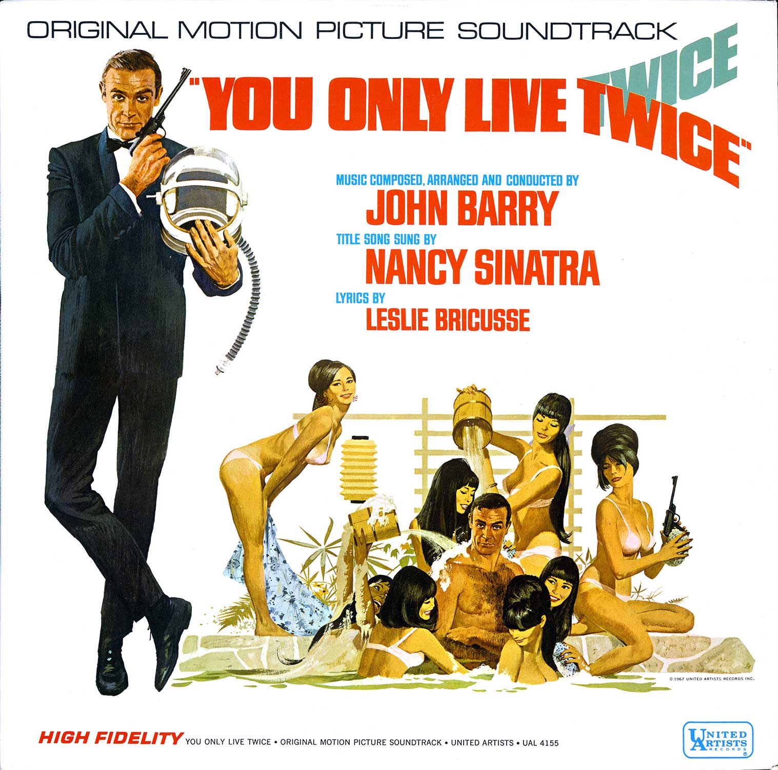 Record album cover, YOU ONLY LIVE TWICE, 1967.