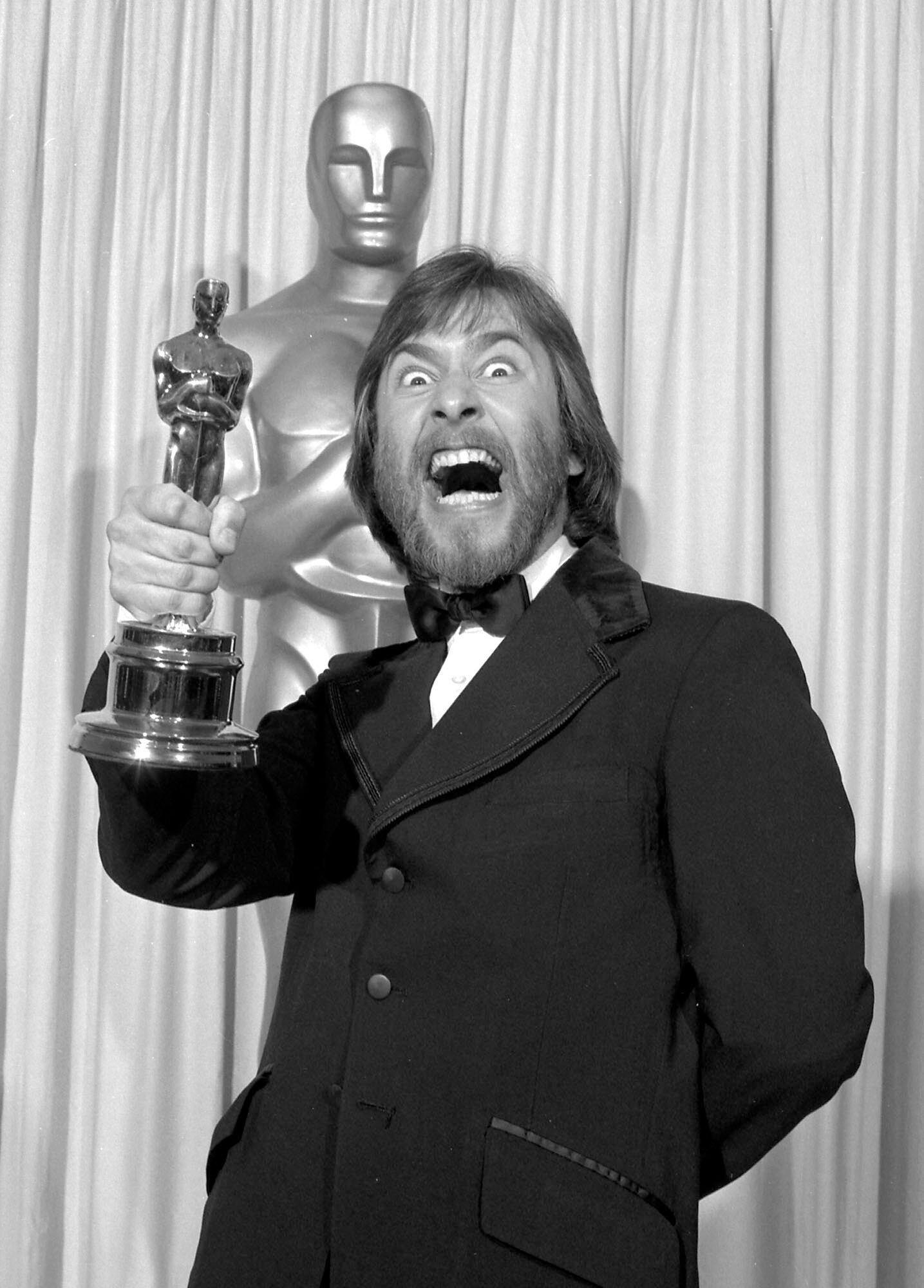 Rick Baker with His First Oscar