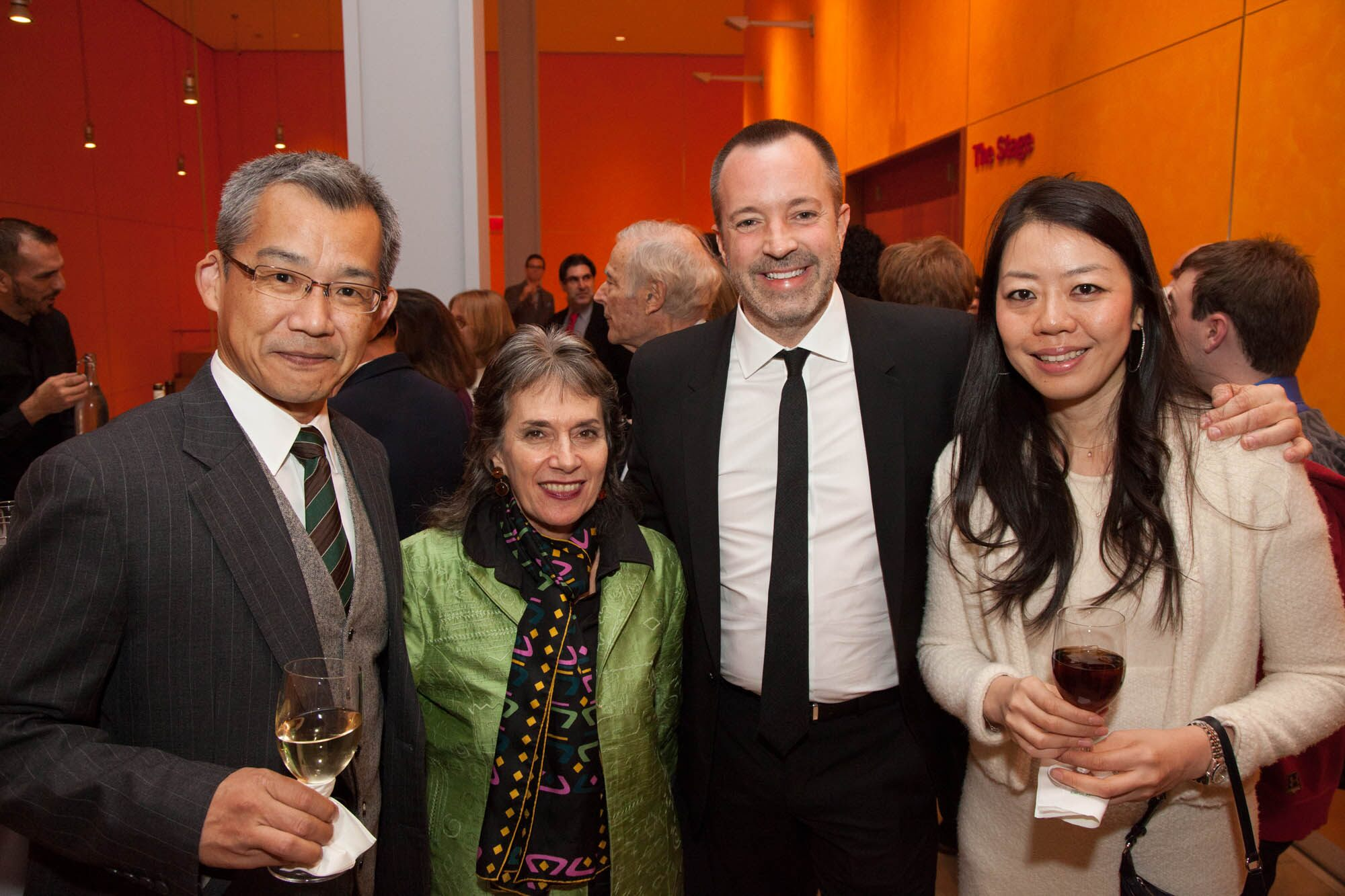 Raita Nakashima, Annette Insdorf, Bill Kramer, and Kayo Wahsio (from left to right).