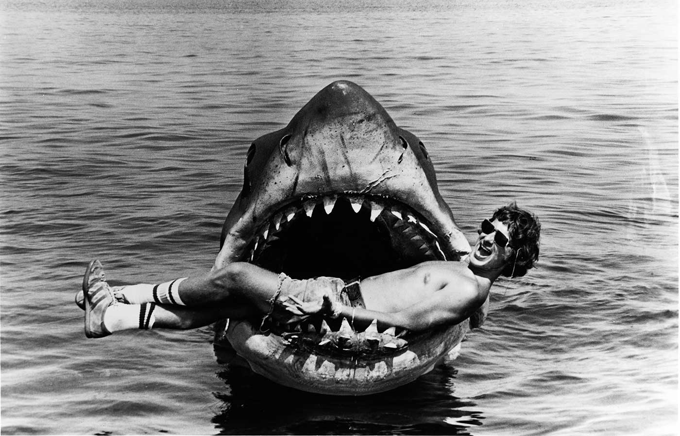 Cutting Up on the Set of JAWS