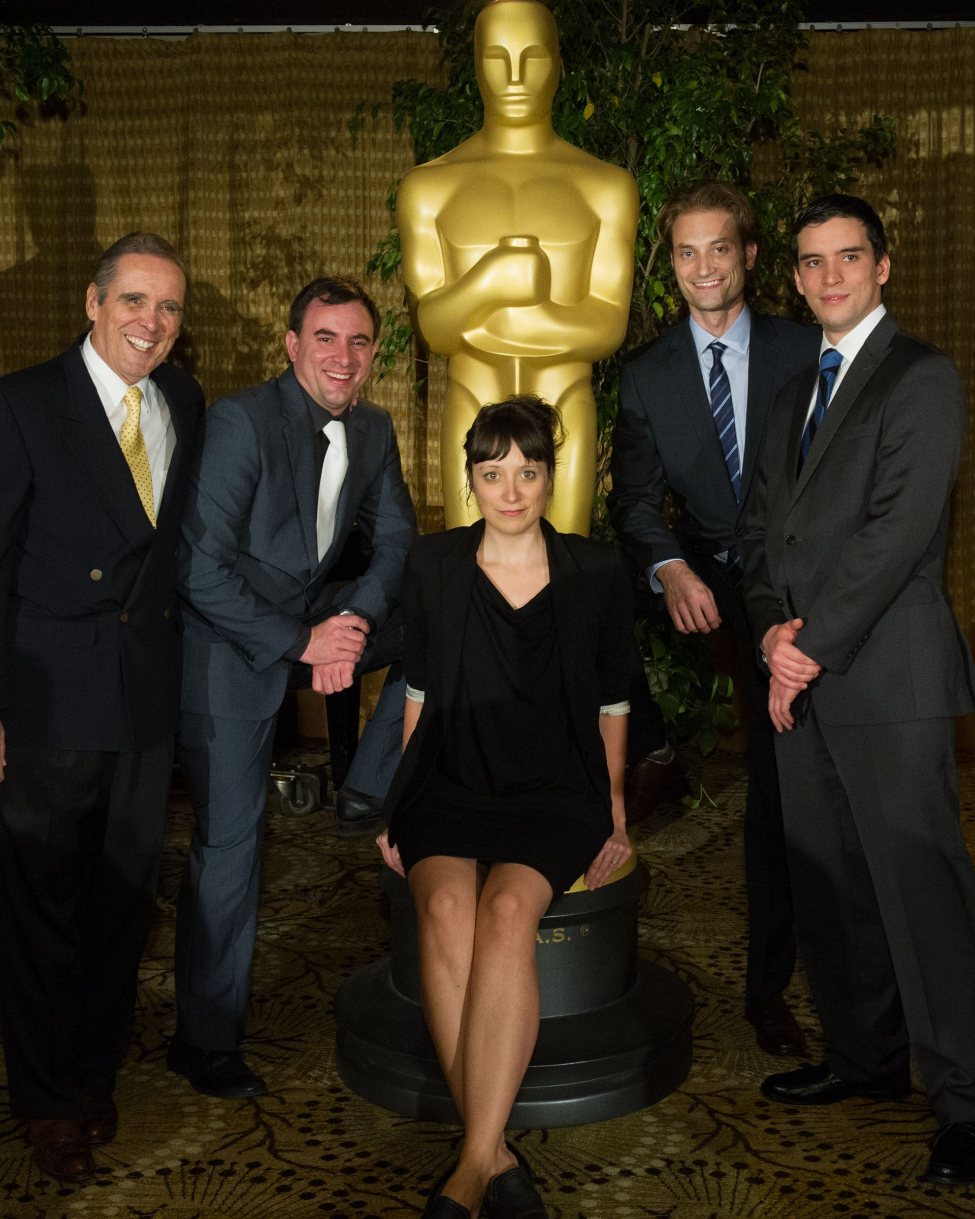 """""""The Academy of Motion Picture Arts and Sciences presented its 2012 Nicholl Fellowships in Screenwriting on November 8 in Beverly Hills.  Front row (left to right): Fellow Allan Durand, writer of """"""""Willie Francis Must Die Again,"""""""", Fellow Sean Robert Dani"""