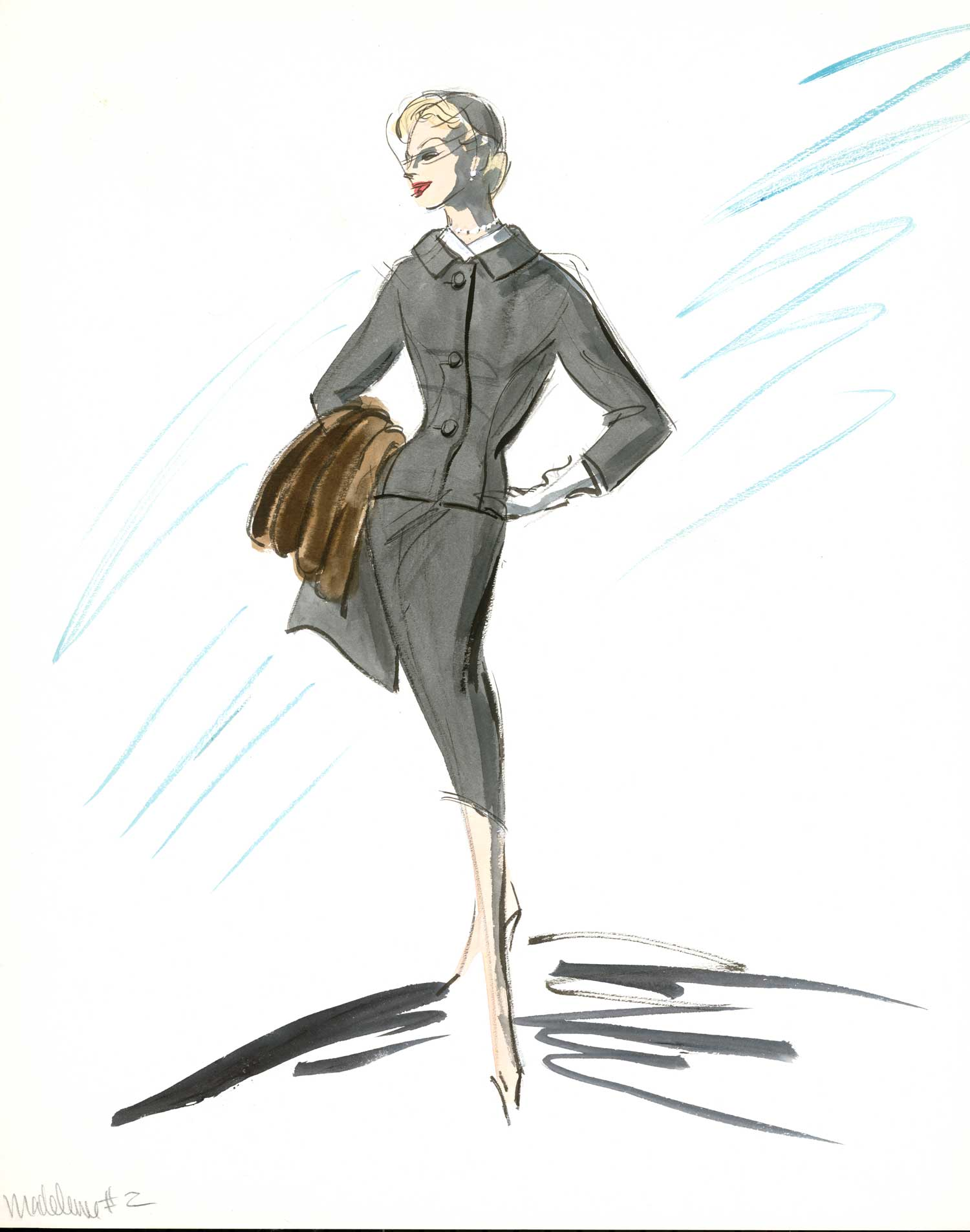 "This Edith Head gray suit design for Kim Novak in ""Vertigo"" became one of the most recognizable costumes in film history."
