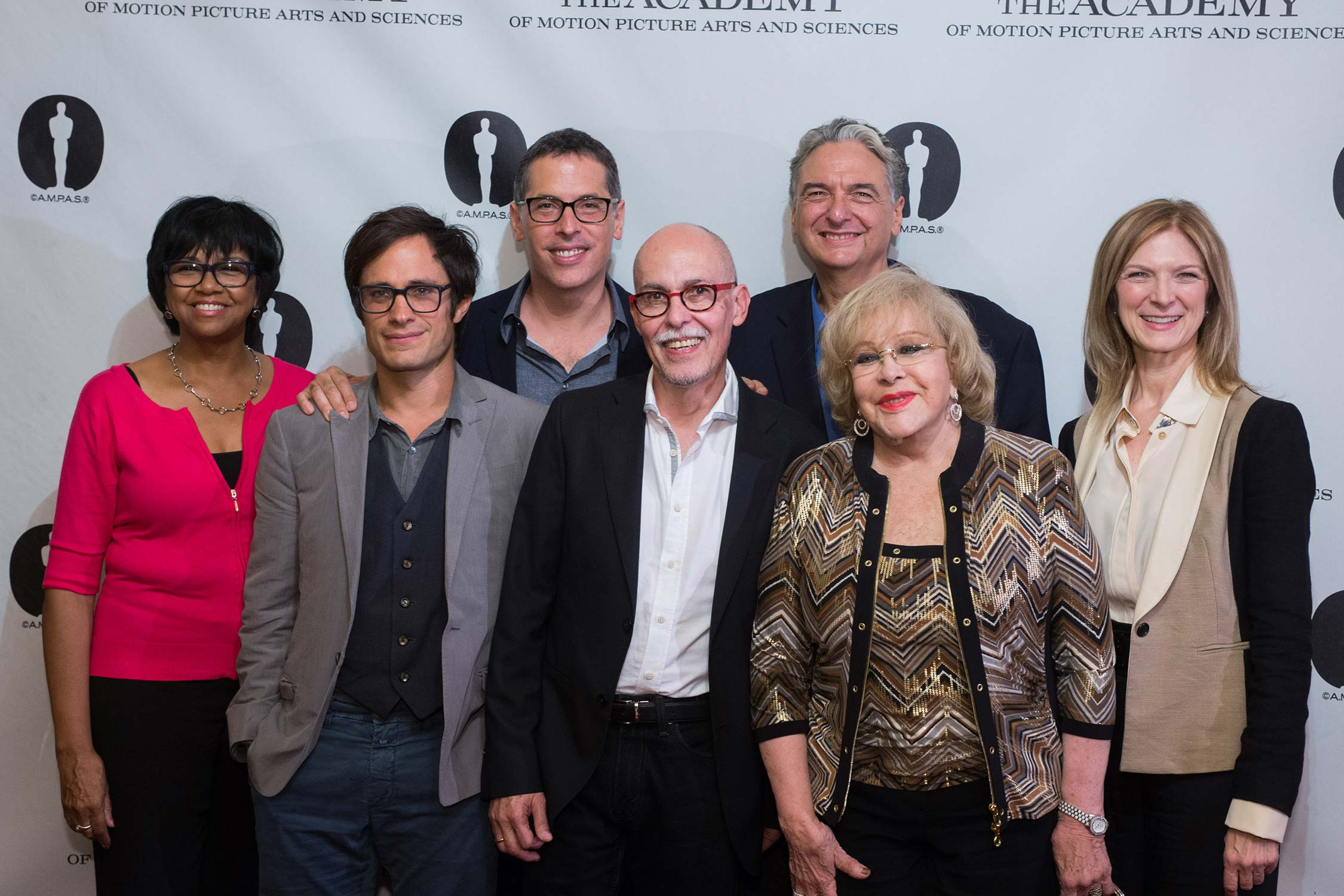 Pictured (left to right): Cheryl Boone Isaacs, Gael García Bernal, Rodrigo Prieto, Gabriel Figueroa Flores, Silvia Pinal, Gregory Nava and Dawn Hudson.