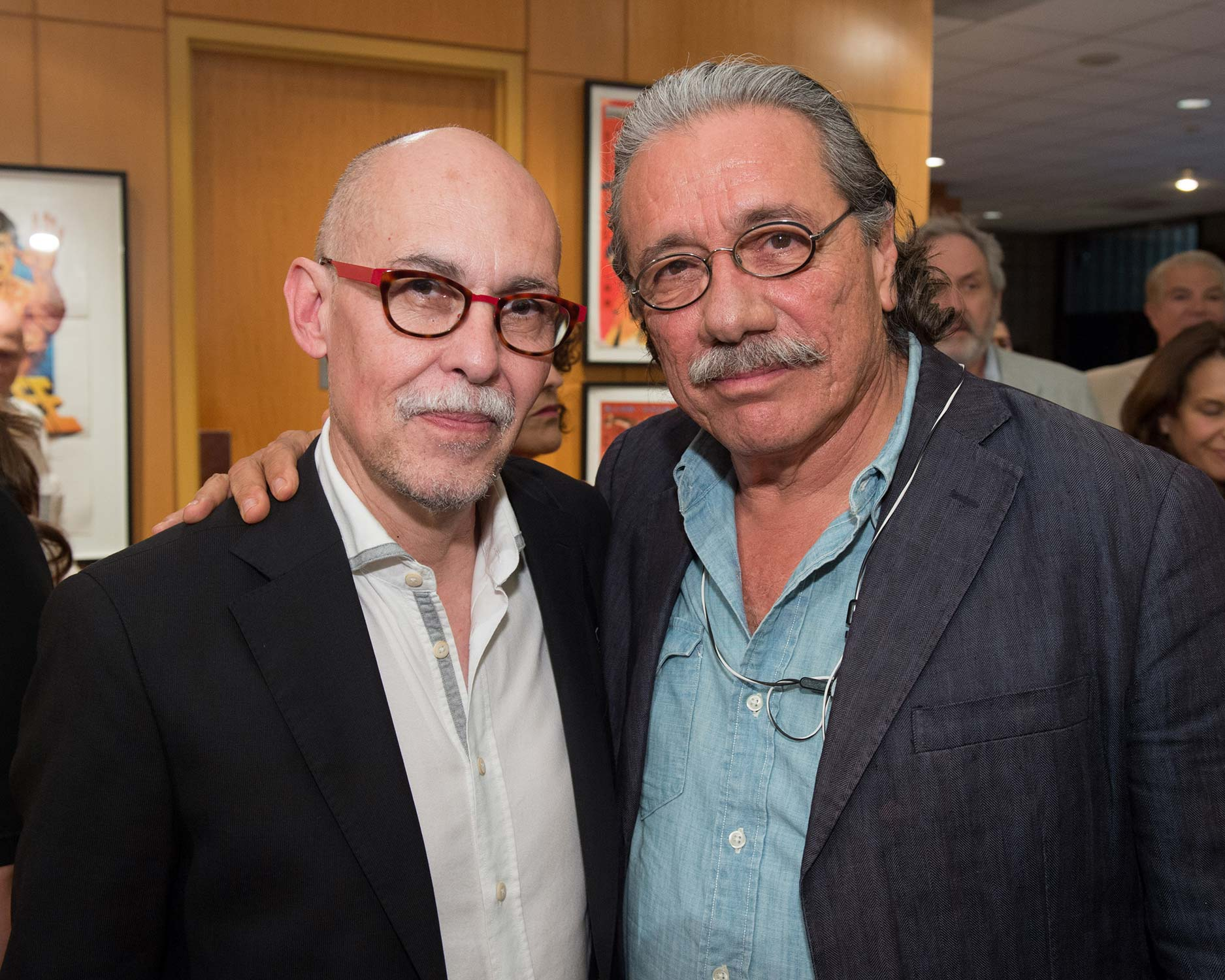Gabriel Figueroa Flores (left), son of Gabriel Figueroa, and actor Edward James Olmos