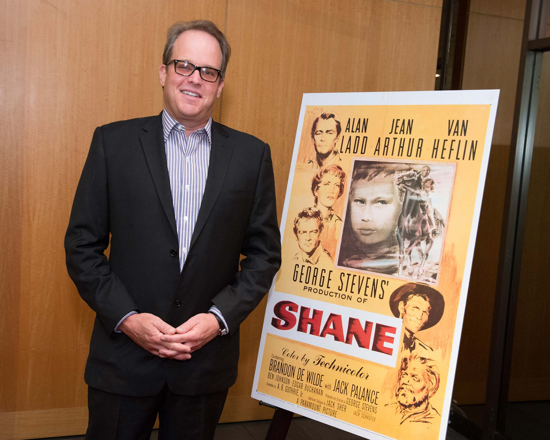 "Director/ producer Michael Stevens, grandson of George Stevens, proceeding a 60th anniversary screening of ""Shane"""