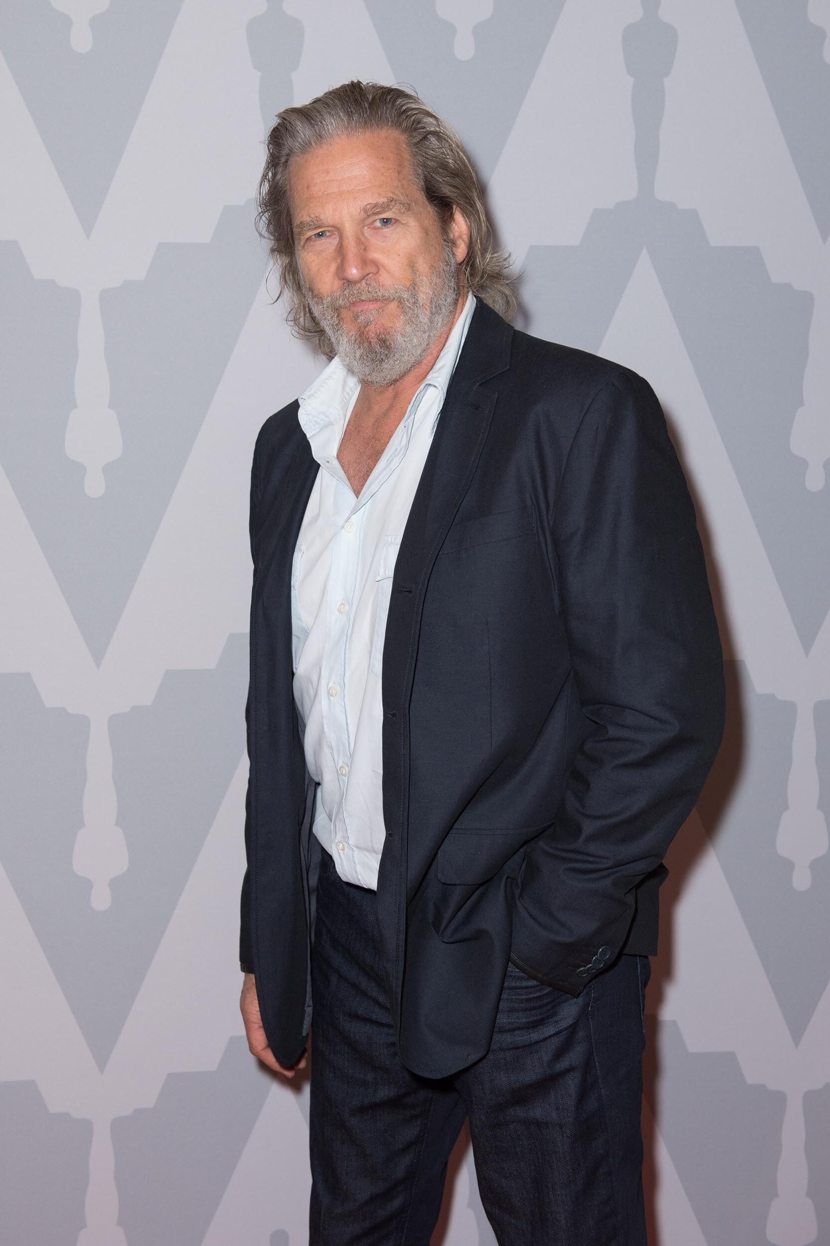 Jeff Bridges prior to the event.