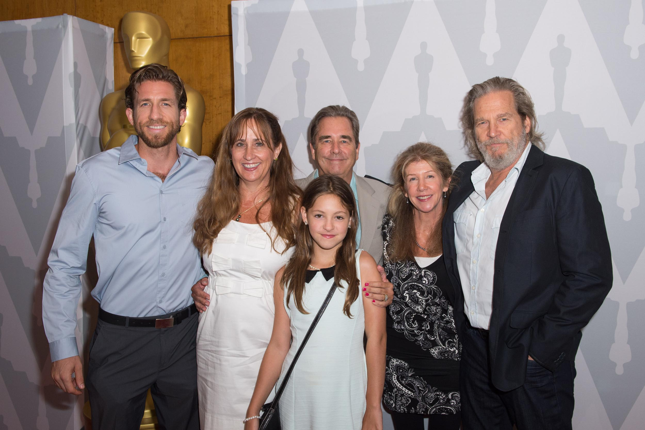 Pictured (left to right): Marcel Bridges, Wendy Treece Bridges, Beau Bridges, Lola Bridges, Cindy Bridges and Jeff Bridges, prior to the event.