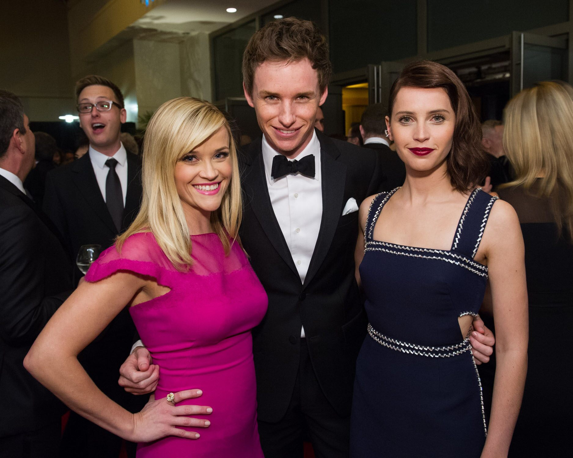 Reese Witherspoon (left), Eddie Redmayne (center) and Felicity Jones at the 6th Annual Governors Awards