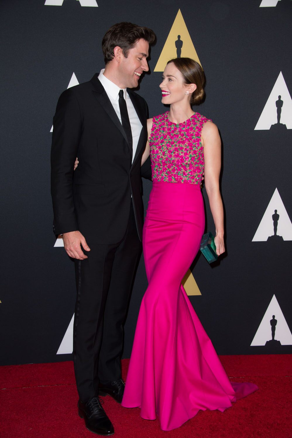 John Krasinski (left) and Emily Blunt at the 6th Annual Governors Awards