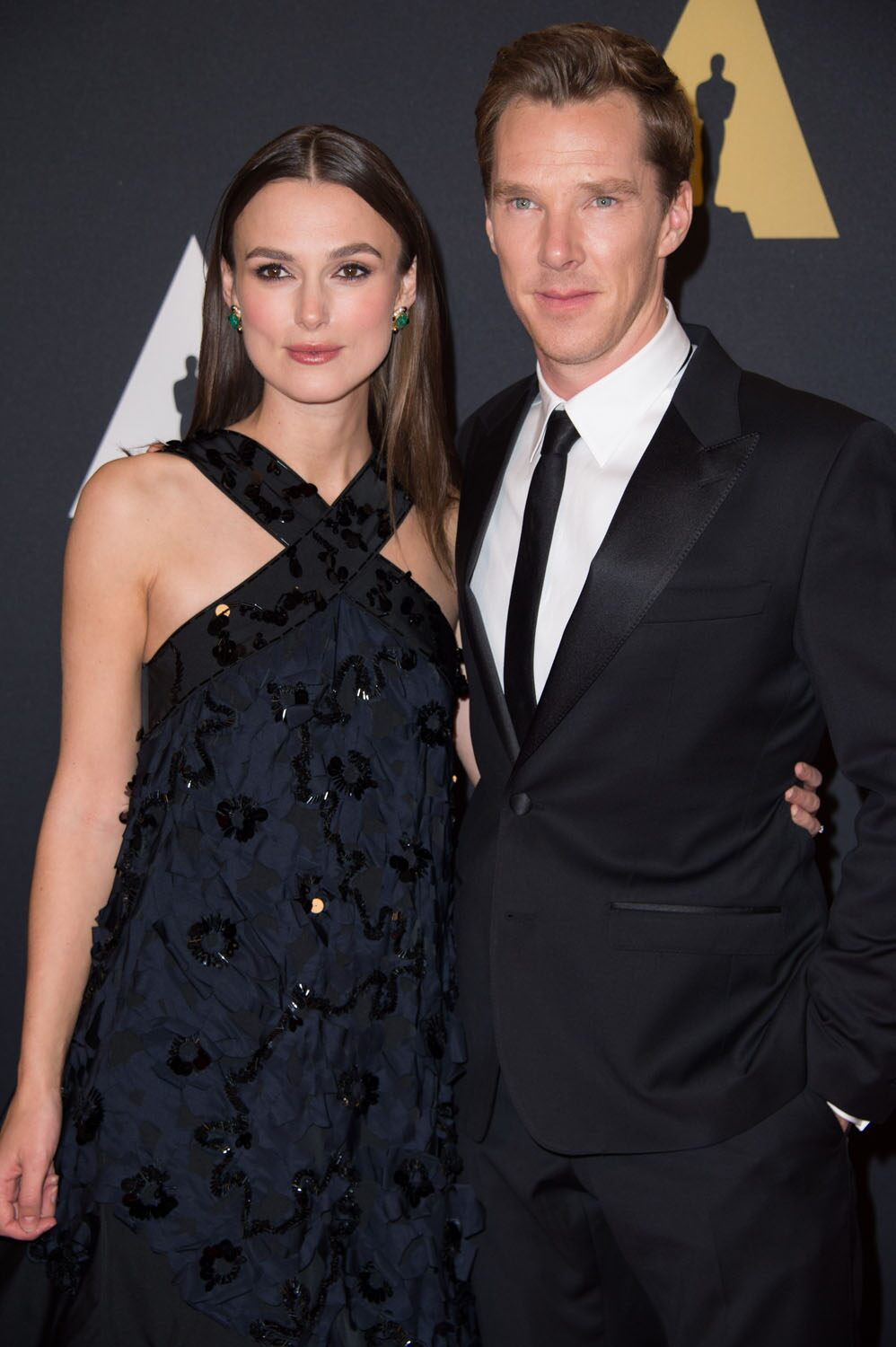 Keira Knightley (left) and Benedict Cumberbatch at the 6th Annual Governors Awards