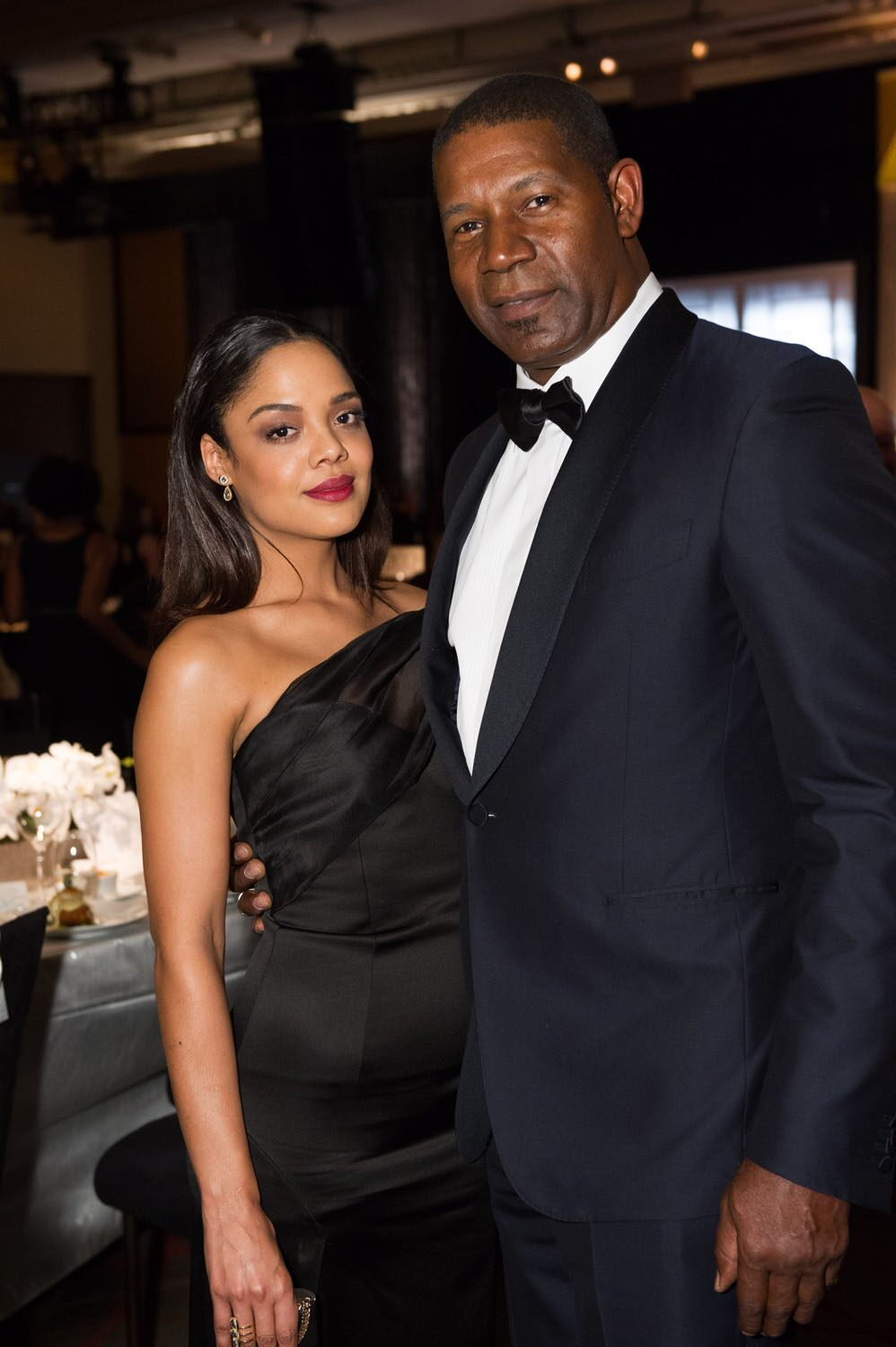 Tessa Thompson (left) and Dennis Haysbert at the 6th Annual Governors Awards