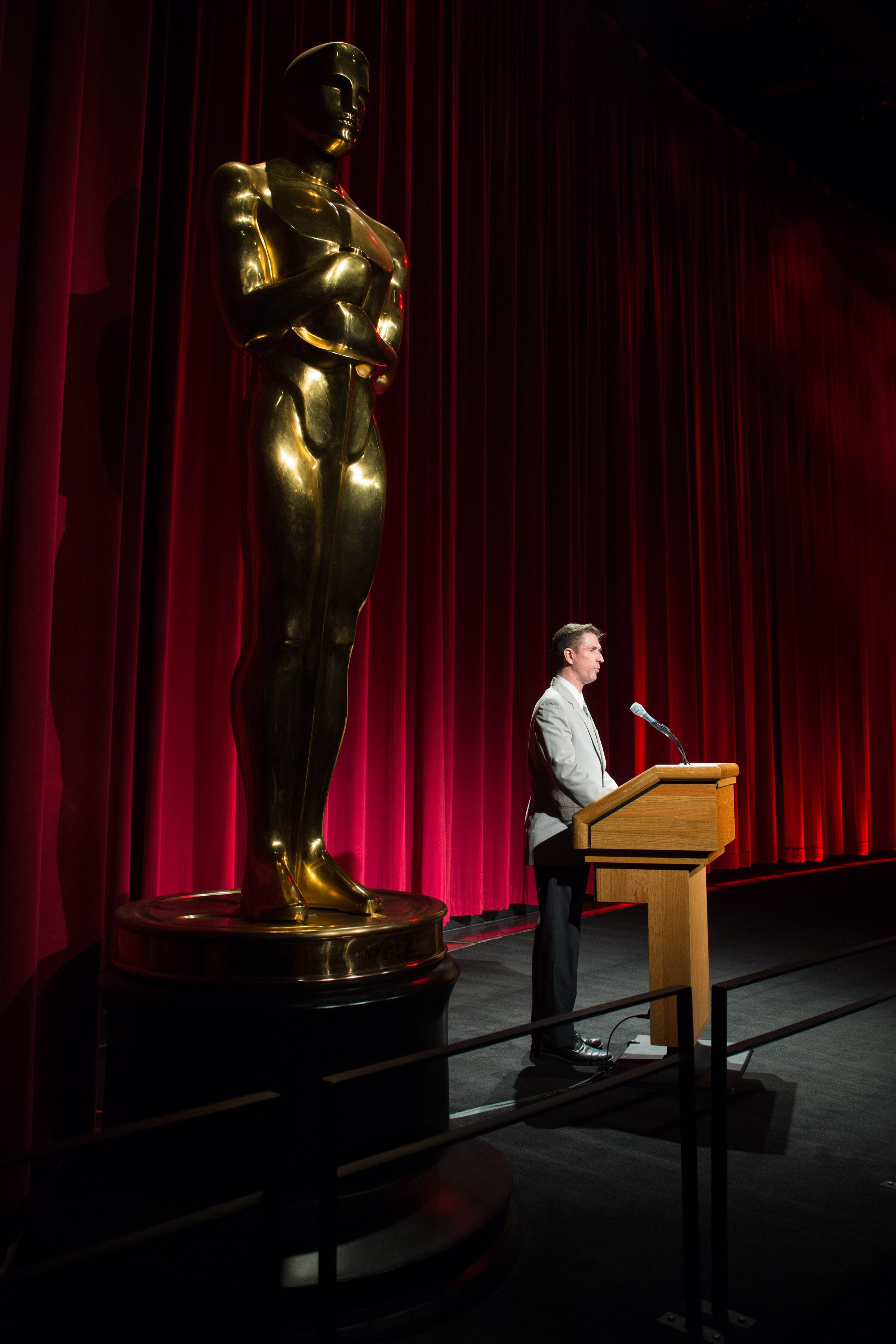 """Academy Film Archive Director Michael Pogorzelshi introduces the """"Wallace and Gromit Restored"""" event"""