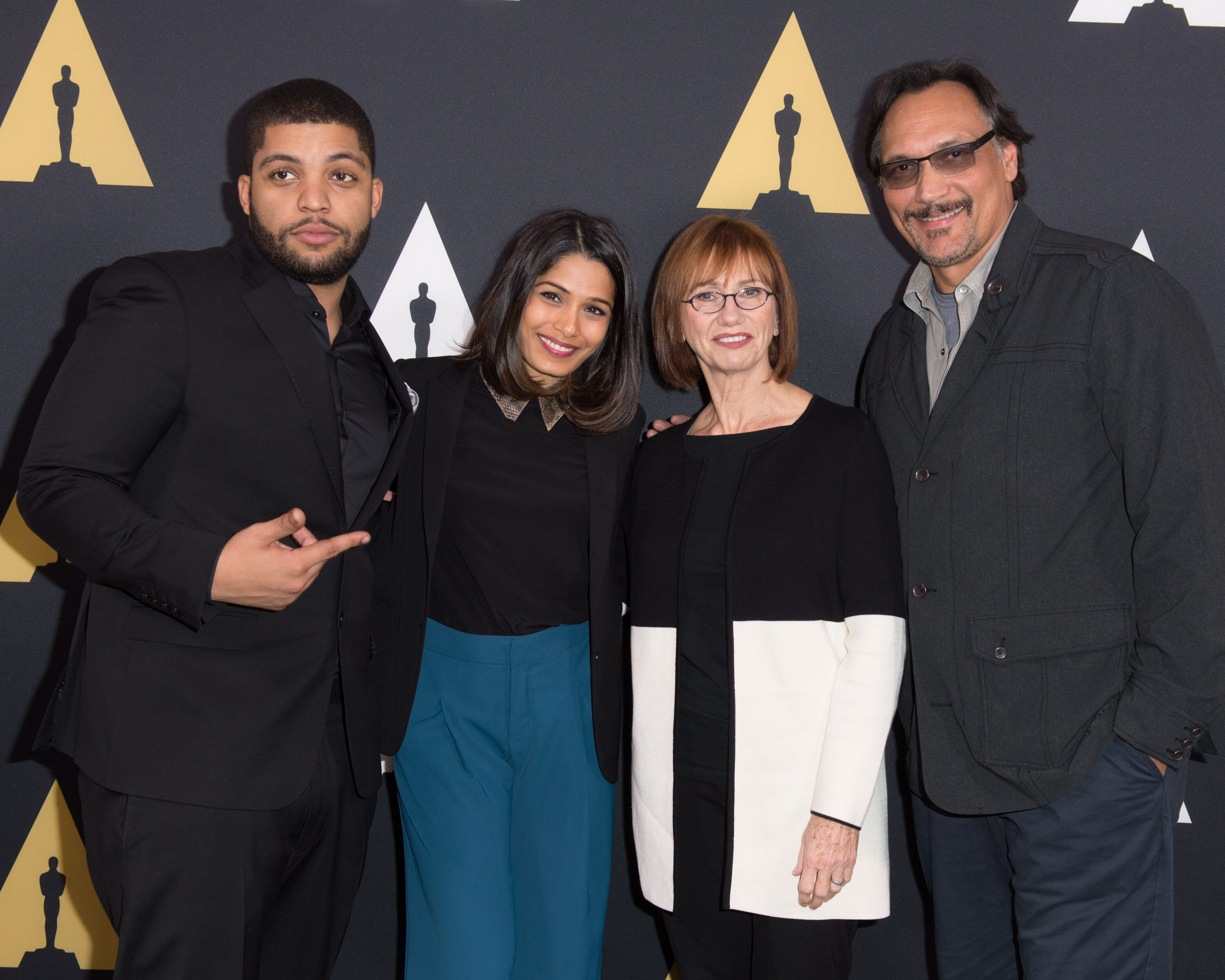Pictured (left to right): O'Shea Jackson Jr., Freida Pinto, Kathy Baker and Jimmy Smits.