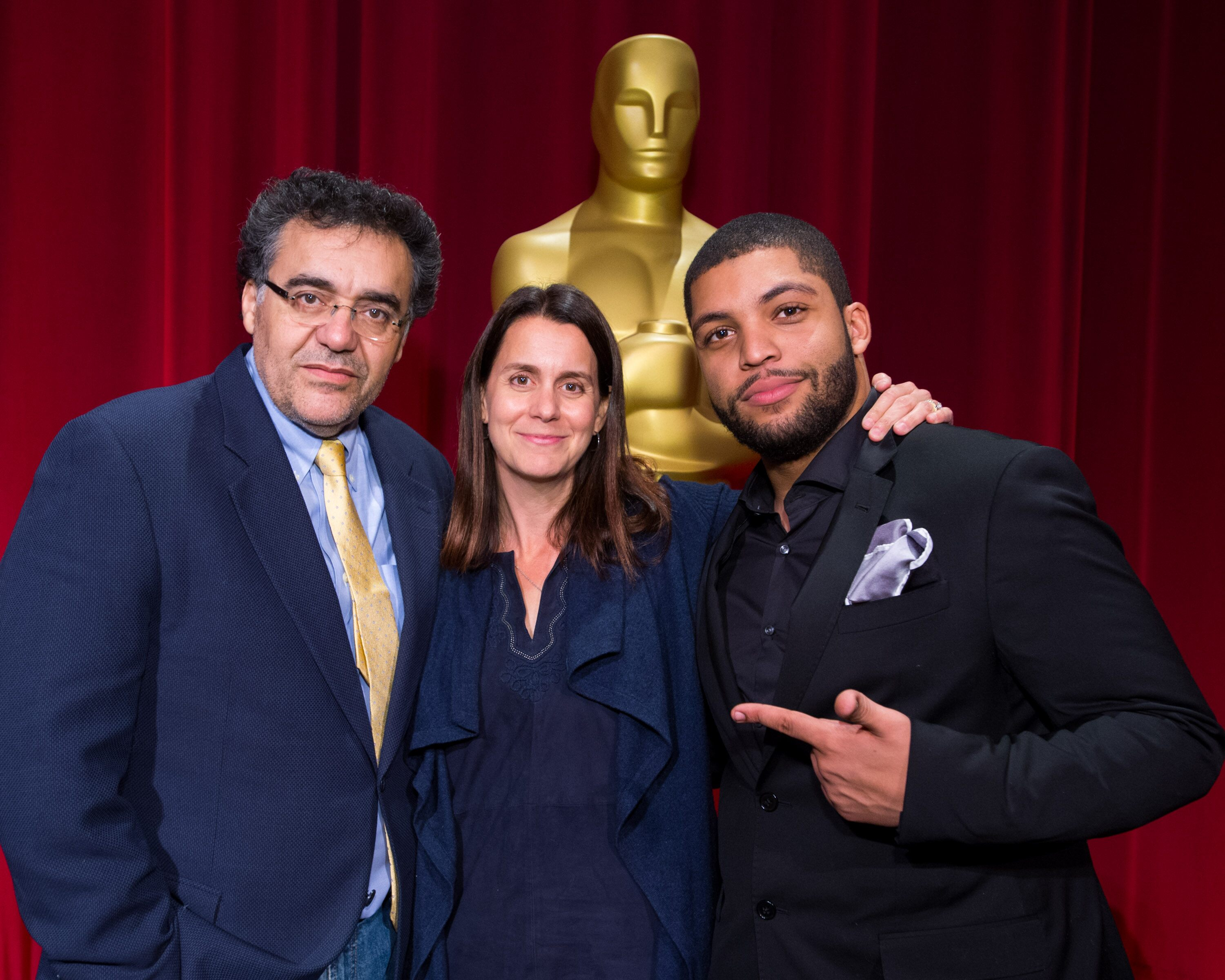 Director-host Rodrigo Garcia (left), producer Julie Lynn (center) and actor O'Shea Jackson Jr.