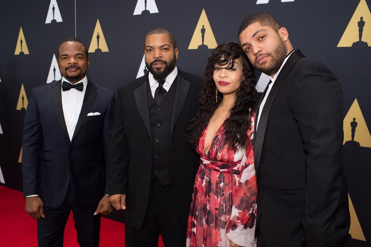 From left: F. Gary Gray, Ice Cube, Kimberly Woodruff and O'Shea Jackson Jr. attend the Academy's 7th Annual Governors Awards
