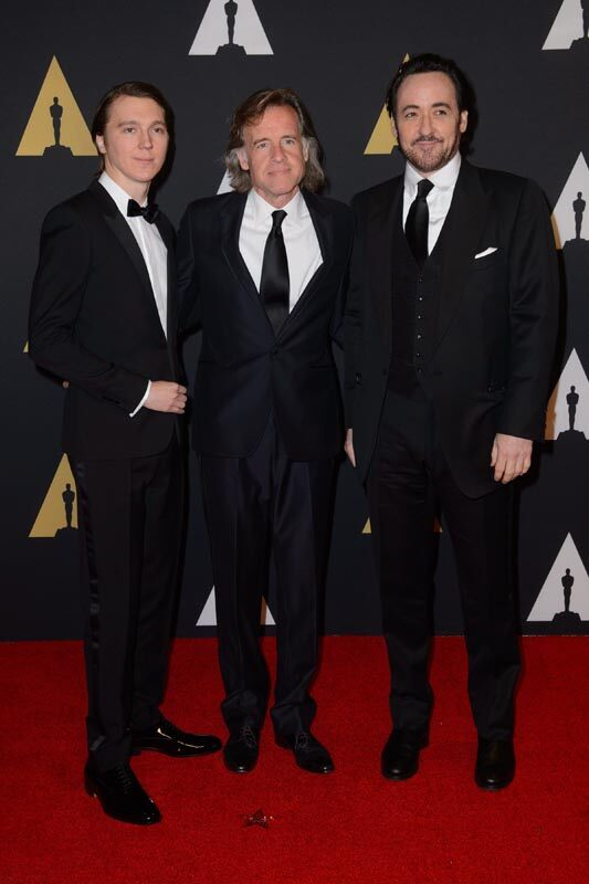 Paul Dano (left), Bill Pohlad (center) and John Cusack attend the Academy's 7th Annual Governors Awards