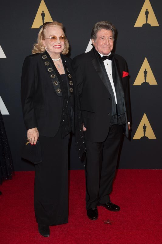 Honorary Award recipient Gena Rowlands (left) and Robert Forrest attend the Academy's 7th Annual Governors Awards