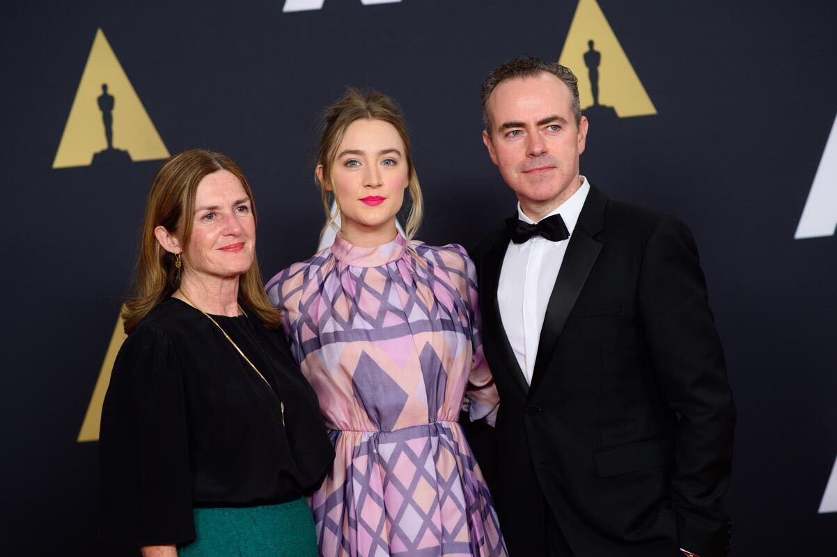 Producer Finola Dwyer, actress Saoirse Ronanand John Crowley attends the Academy's 7th Annual Governors Awards