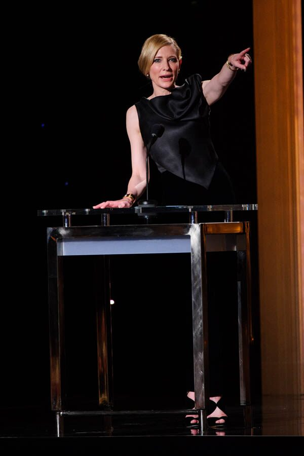 Oscar®-winning actress Cate Blanchett speaks at the 2015 Governors Awards