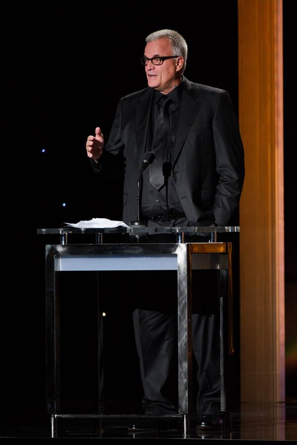 Nick Cassavetes introduces Honorary Award recipient Gena Rowlands at the 2015 Governors Awards