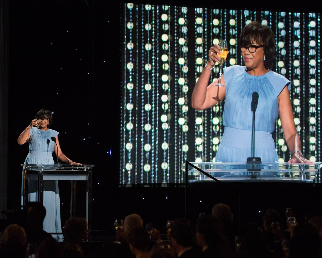 Academy President Cheryl Boone Isaacs introduces the 2015 Governors Awards