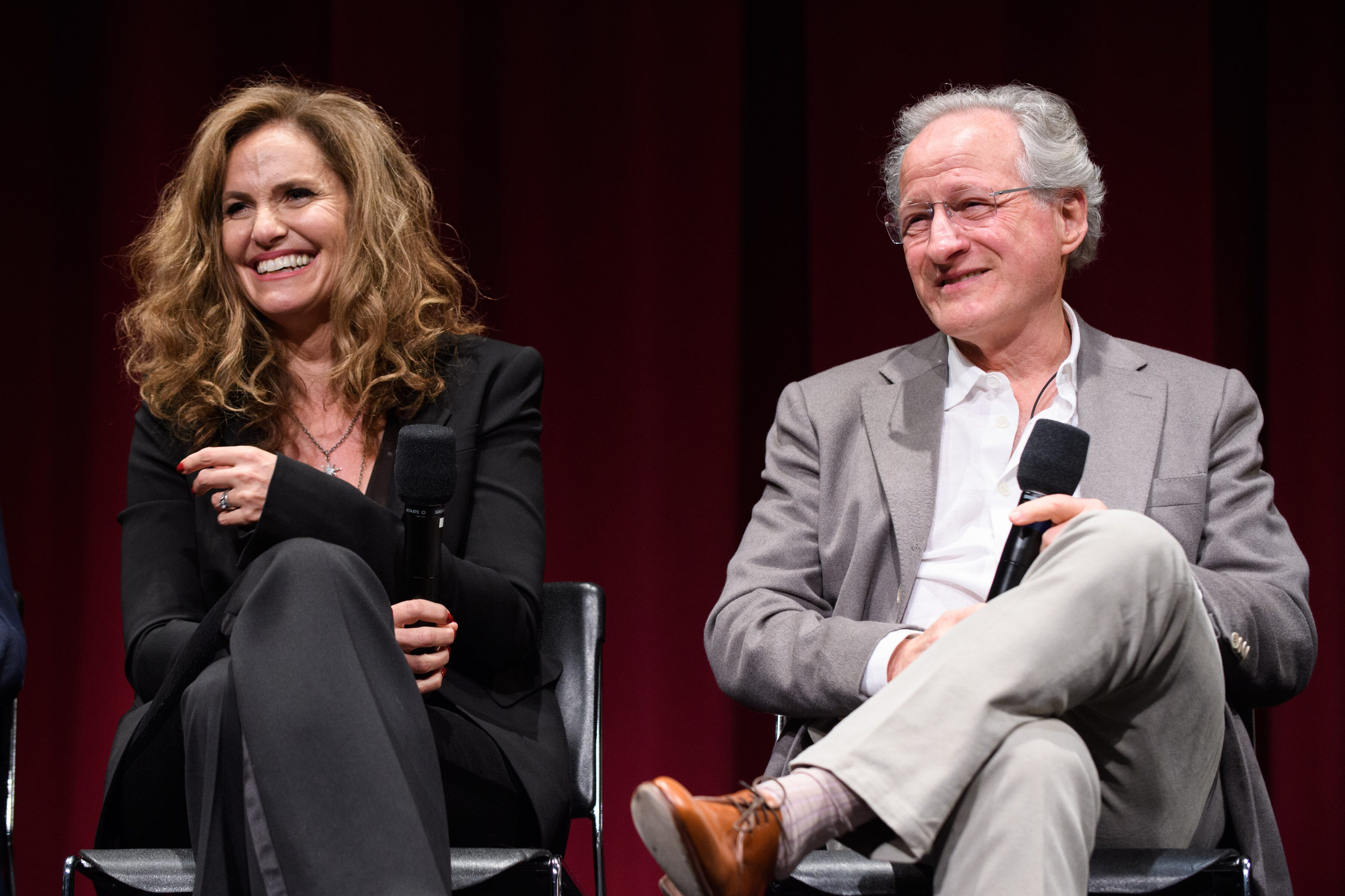 Actress Amy Brenneman (left) and Director/Producer/Writer Michael Mann