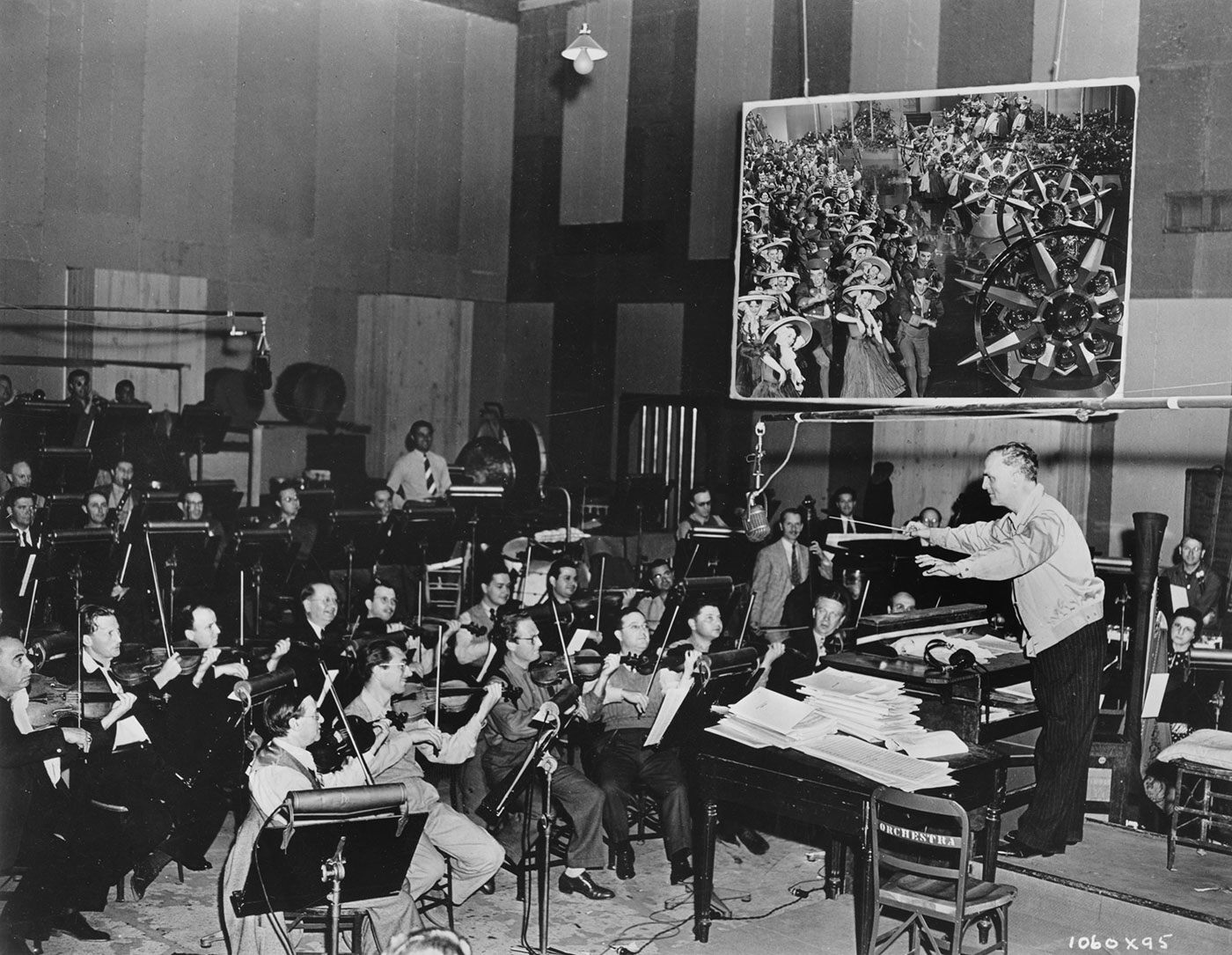 Herbert Stothart  - Music Recording Session
