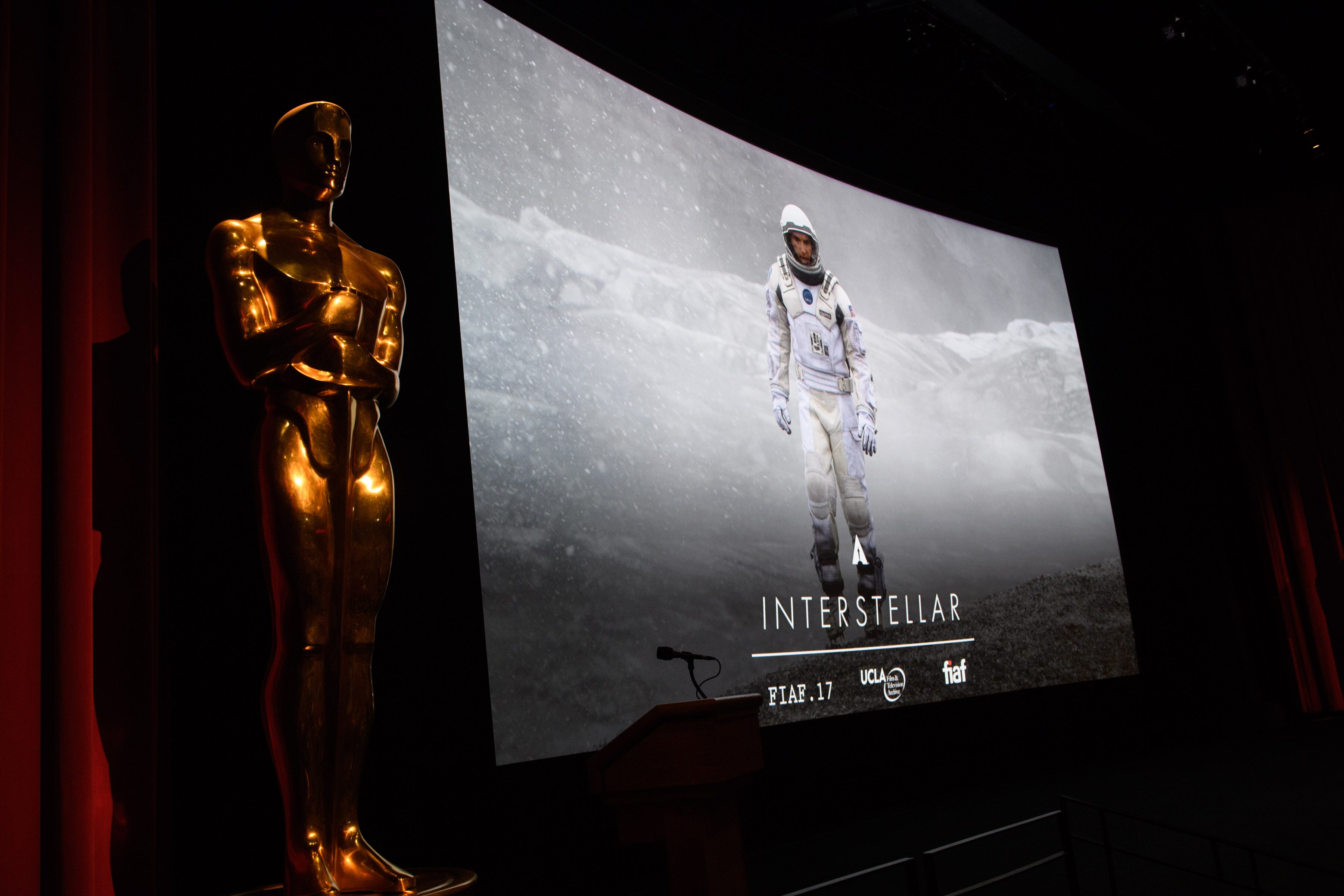 "The Academy presented a screening of ""Interstellar"" in conjunction with the International Federation of Film Archives (FIAF)"