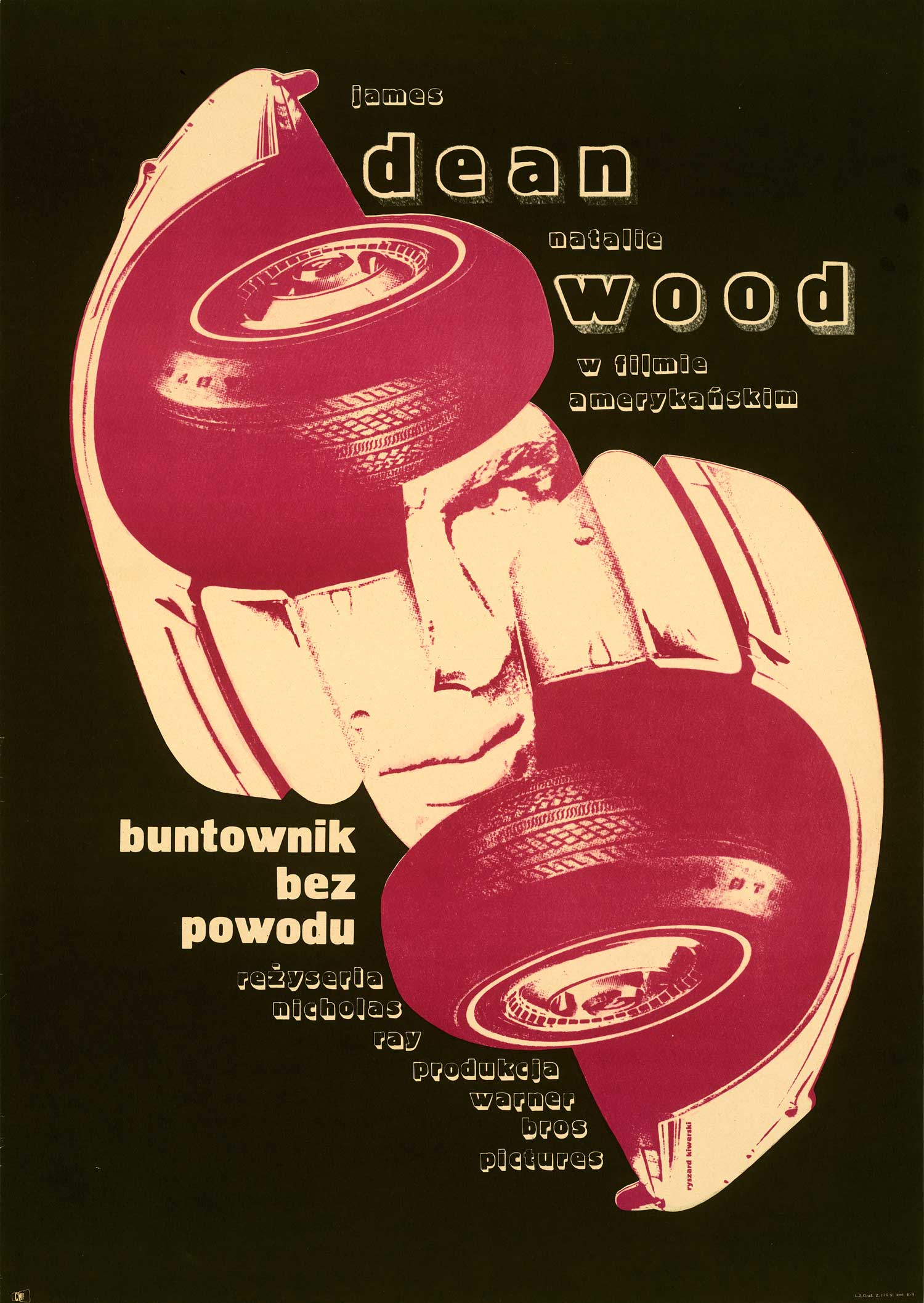 One of the more unusual posters for Rebel without a Cause can be found in this Polish design.