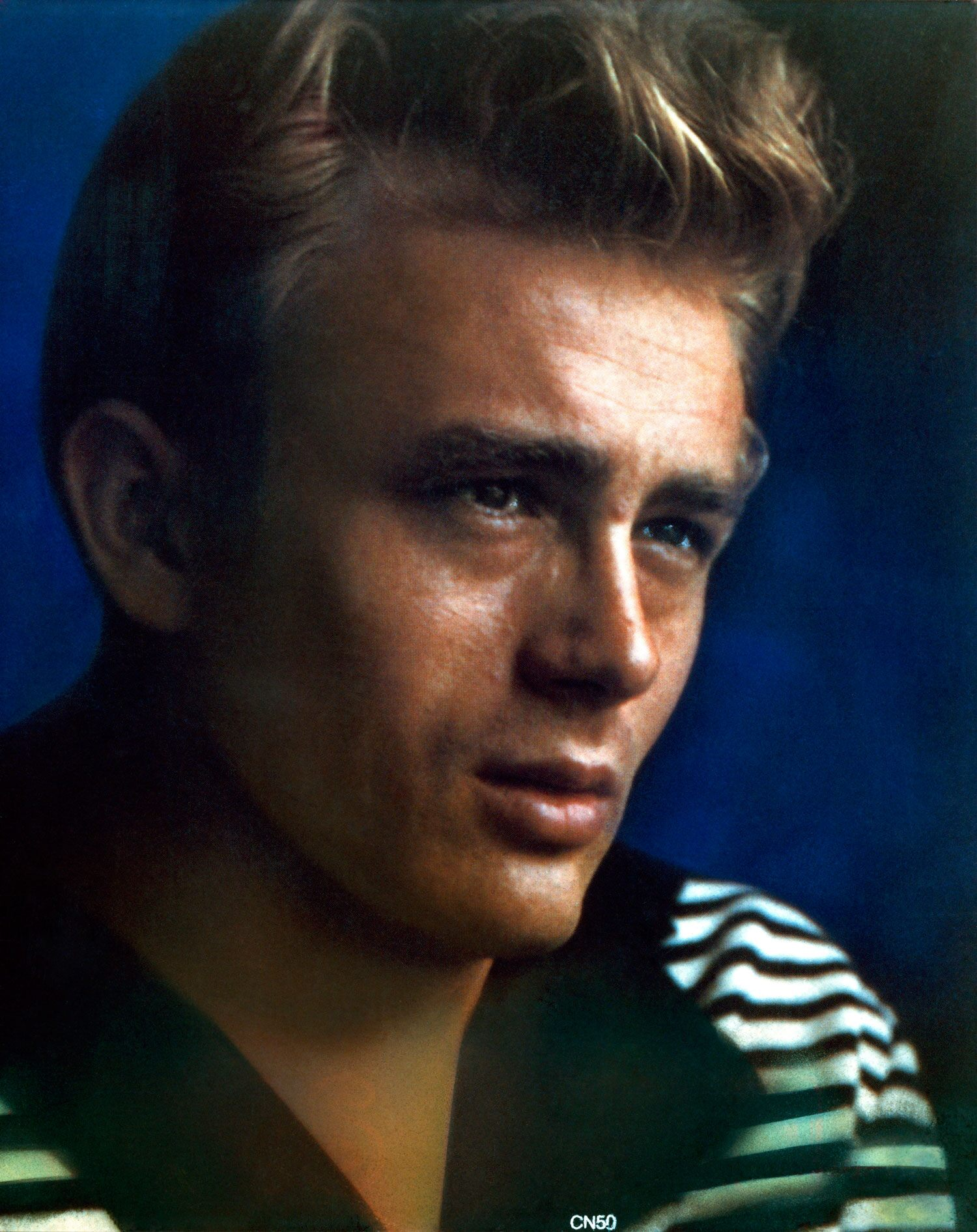 This color promotional portrait of James Dean is one of the many images that made him a familiar face for future generations.