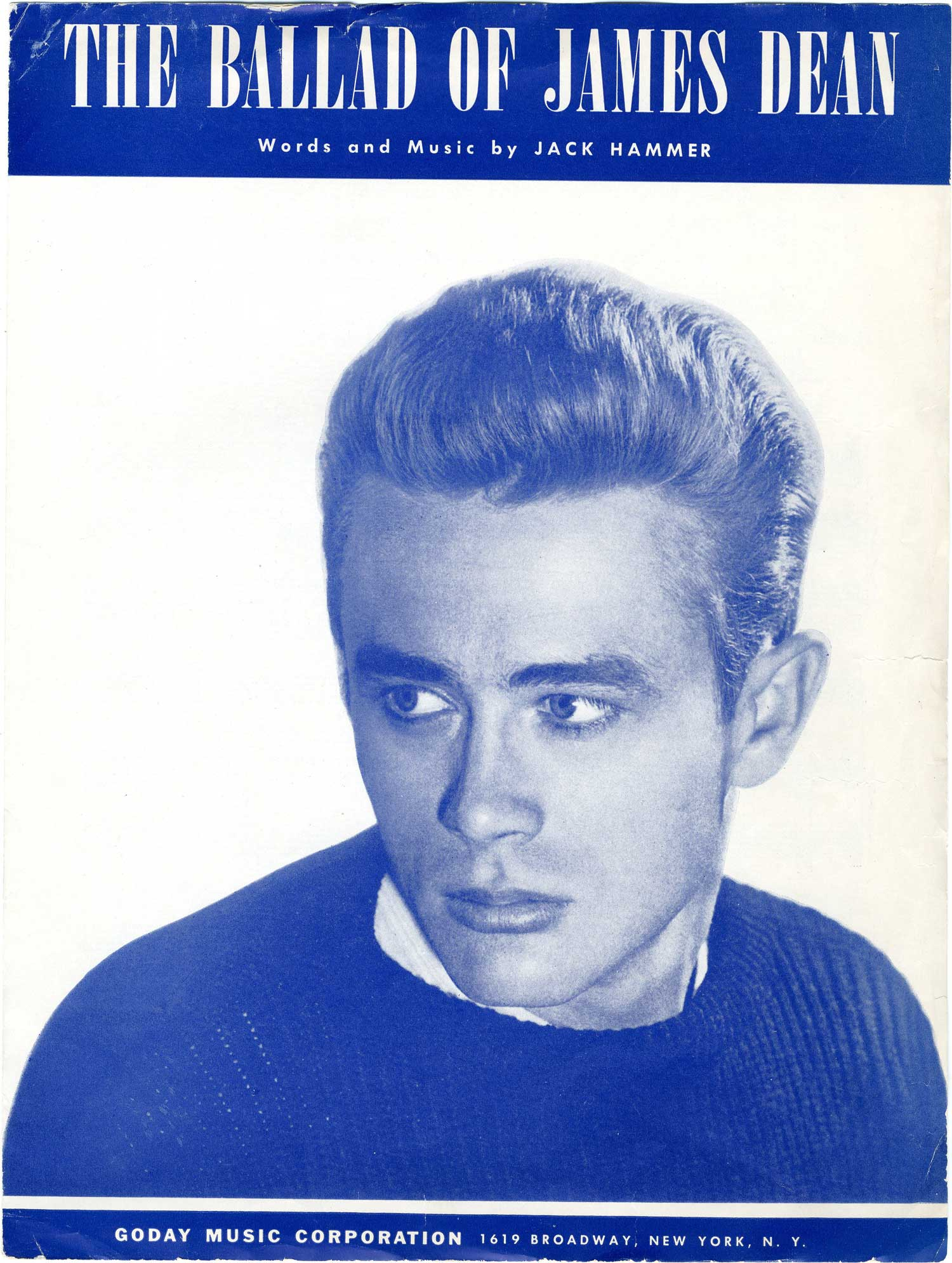 The death of James Dean resulted in an outpouring of tributes including this Jack Hammer song.