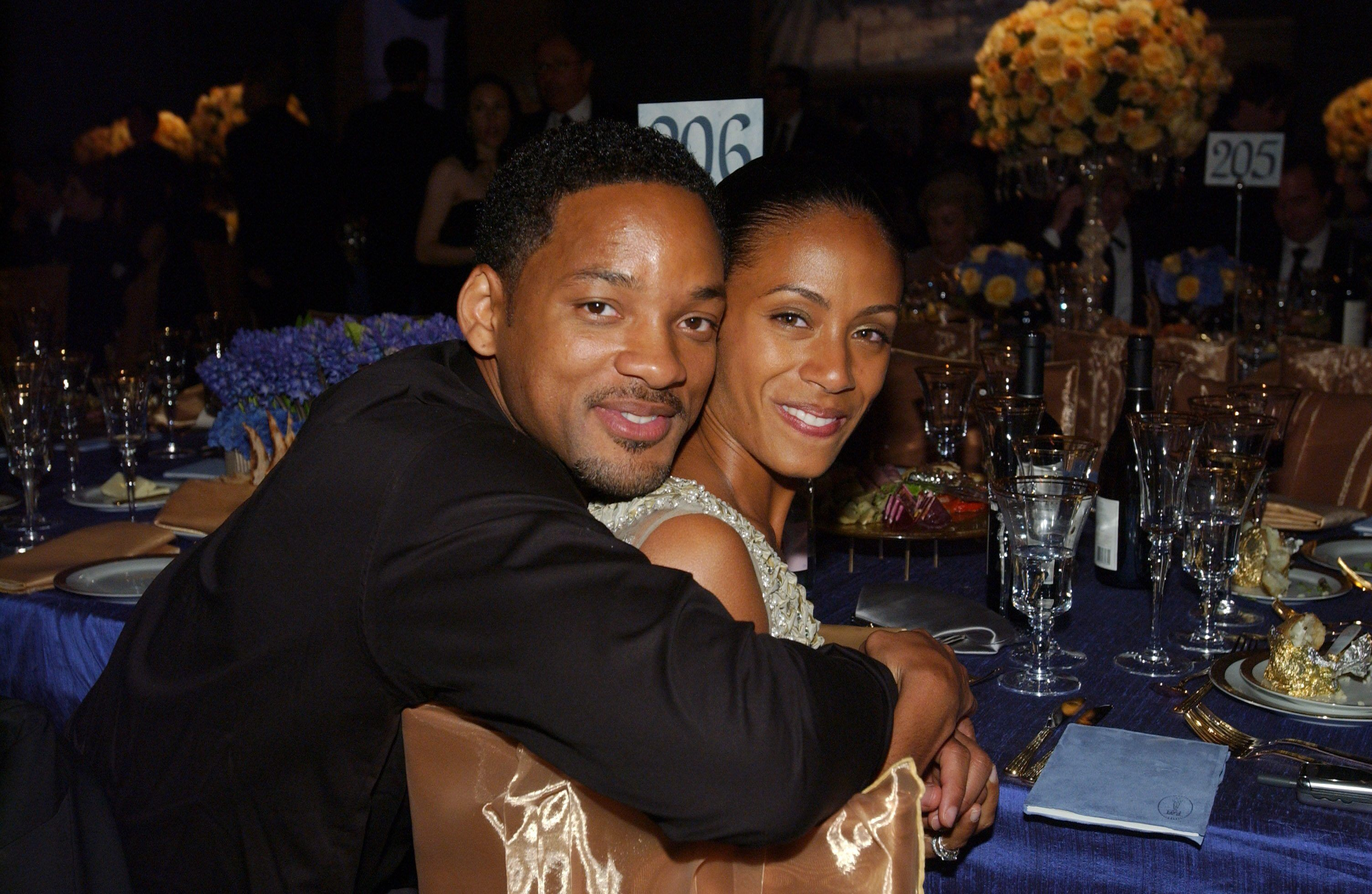 Academy Award presenters Will Smith and Jada Pinkett Smith attend the Governors Ball.