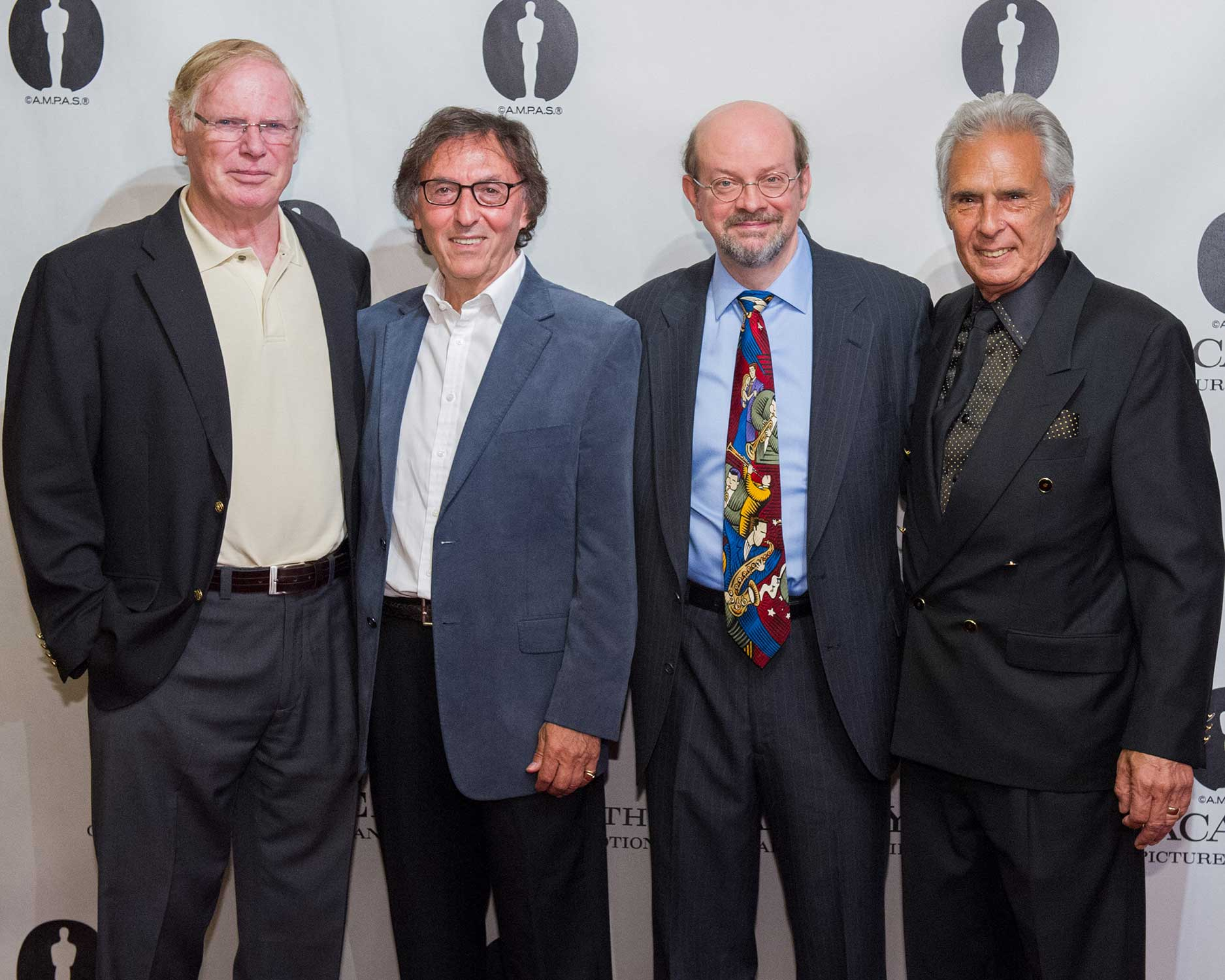 Guitarist Vic Flick, Oscar®-winning Lyricist Don Black, host Jon Burlingame and Oscar-winning composer Bill Conti