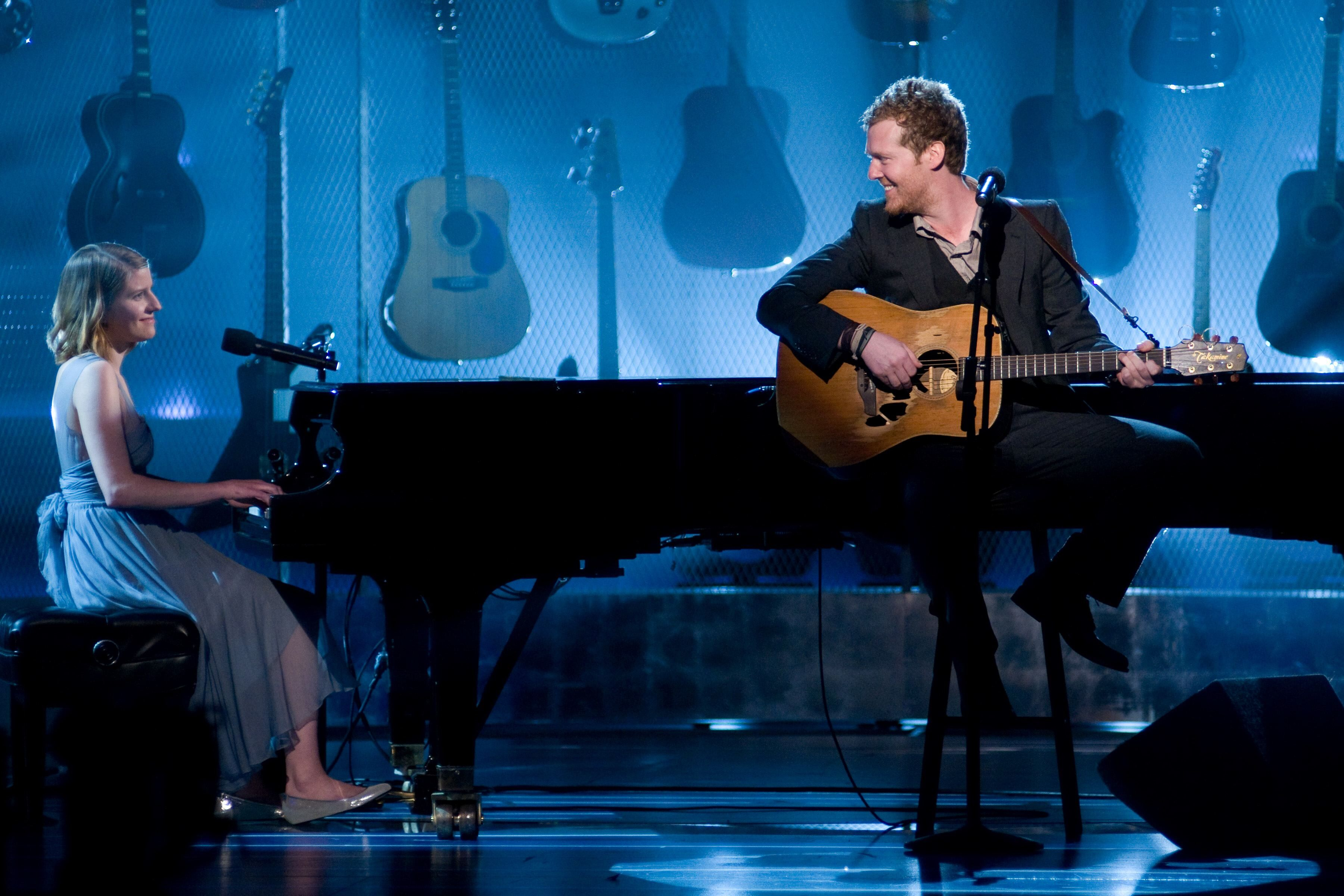 "Marketa Irglova and Glen Hansard perform ""Falling Slowly"" from the film ""Once"" nominated for the Academy Award for Best Original Song."